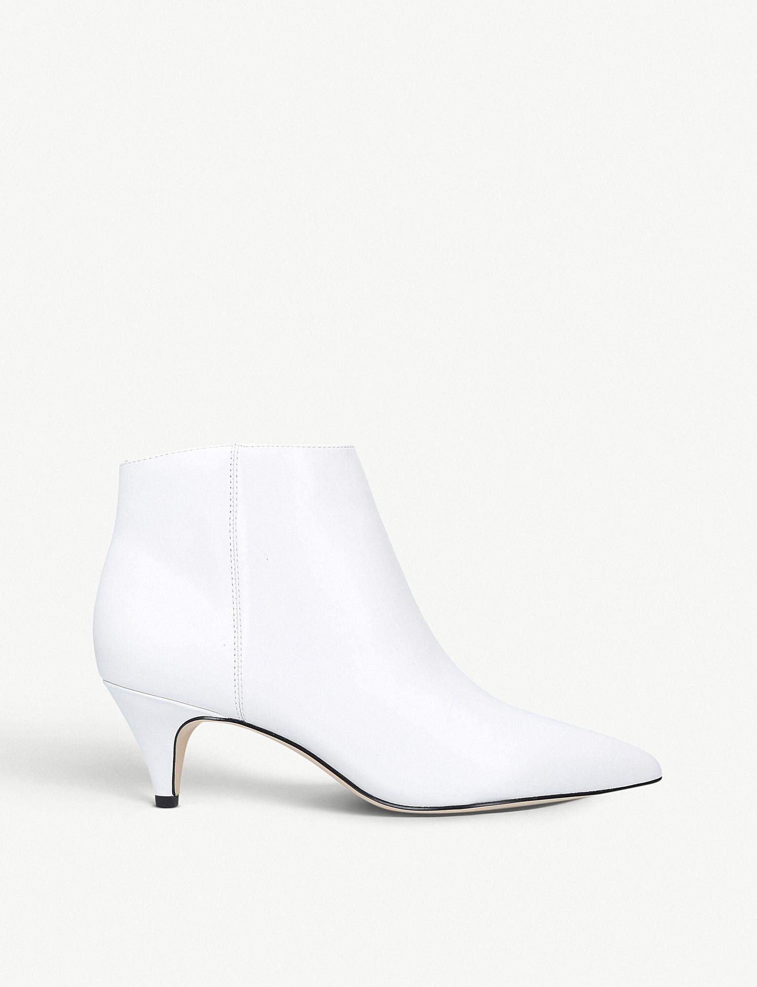 e8d2090c7 Lyst - Sam Edelman Kinzey Leather Ankle Boots in White