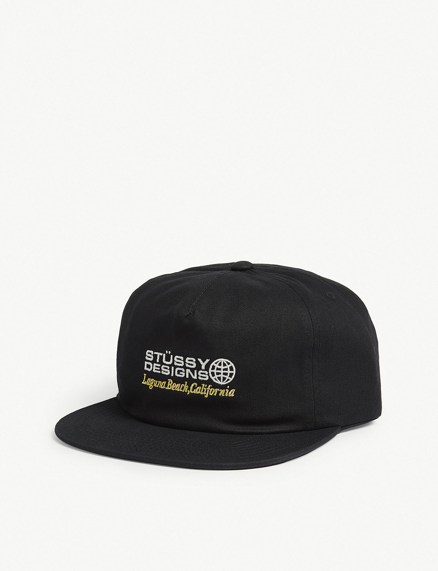 e88bf56de5f Lyst - Stussy Cotton Trucker Cap in Black for Men