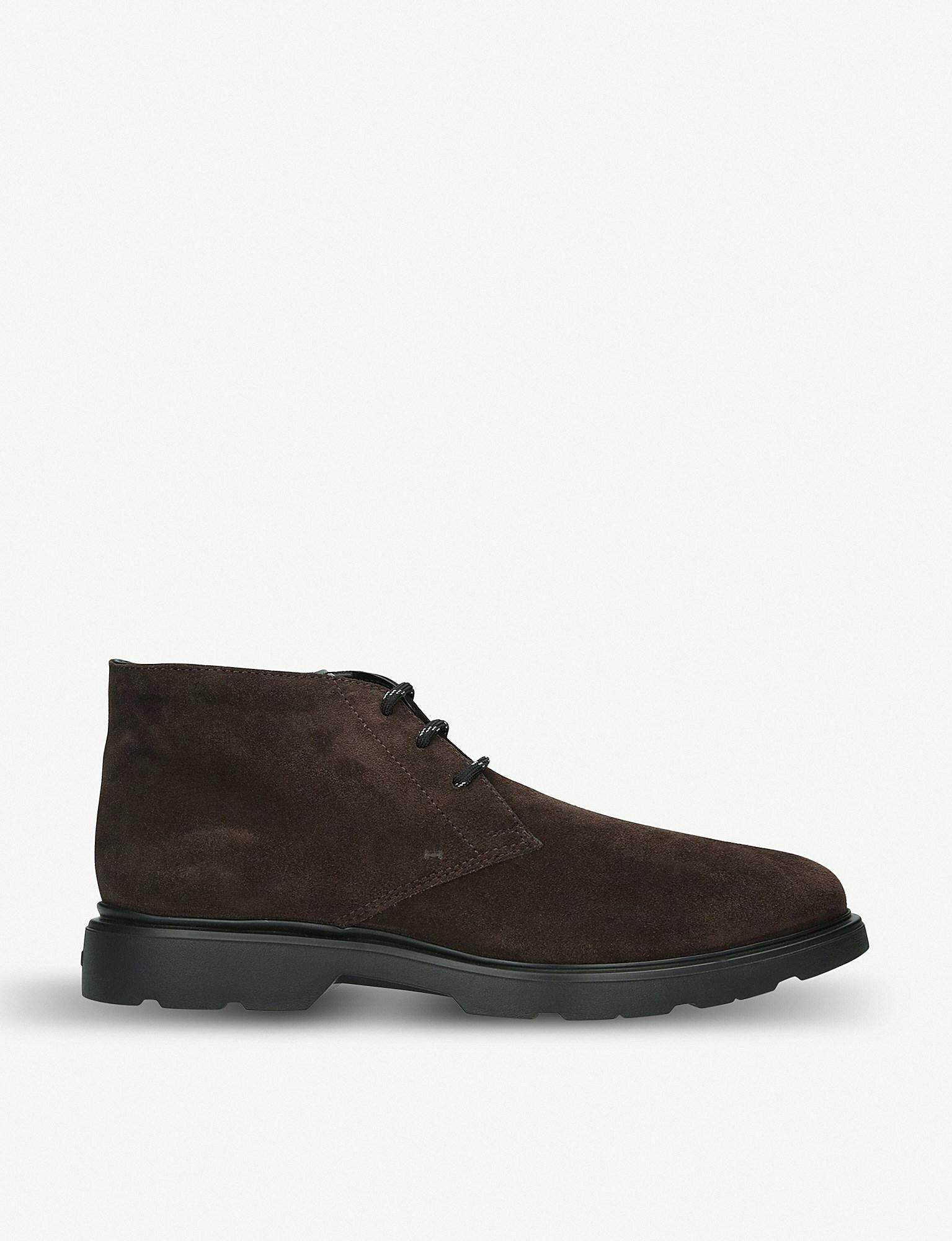 4e5fed405b Hogan Chukka Suede Boots in Brown for Men - Lyst