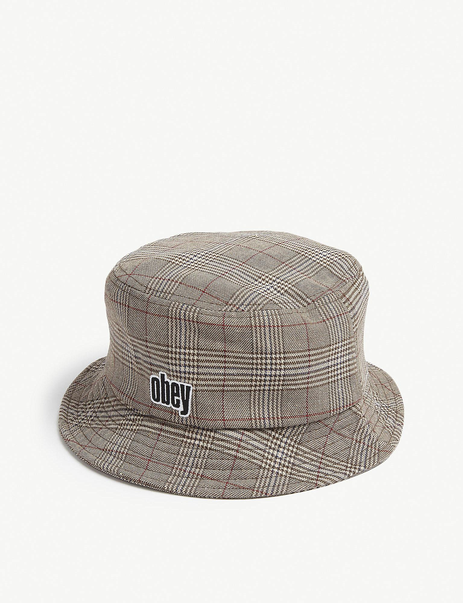 b202c739400 ... coupon obey dayton cotton blend bucket hat for men lyst c0f23 c1ae6