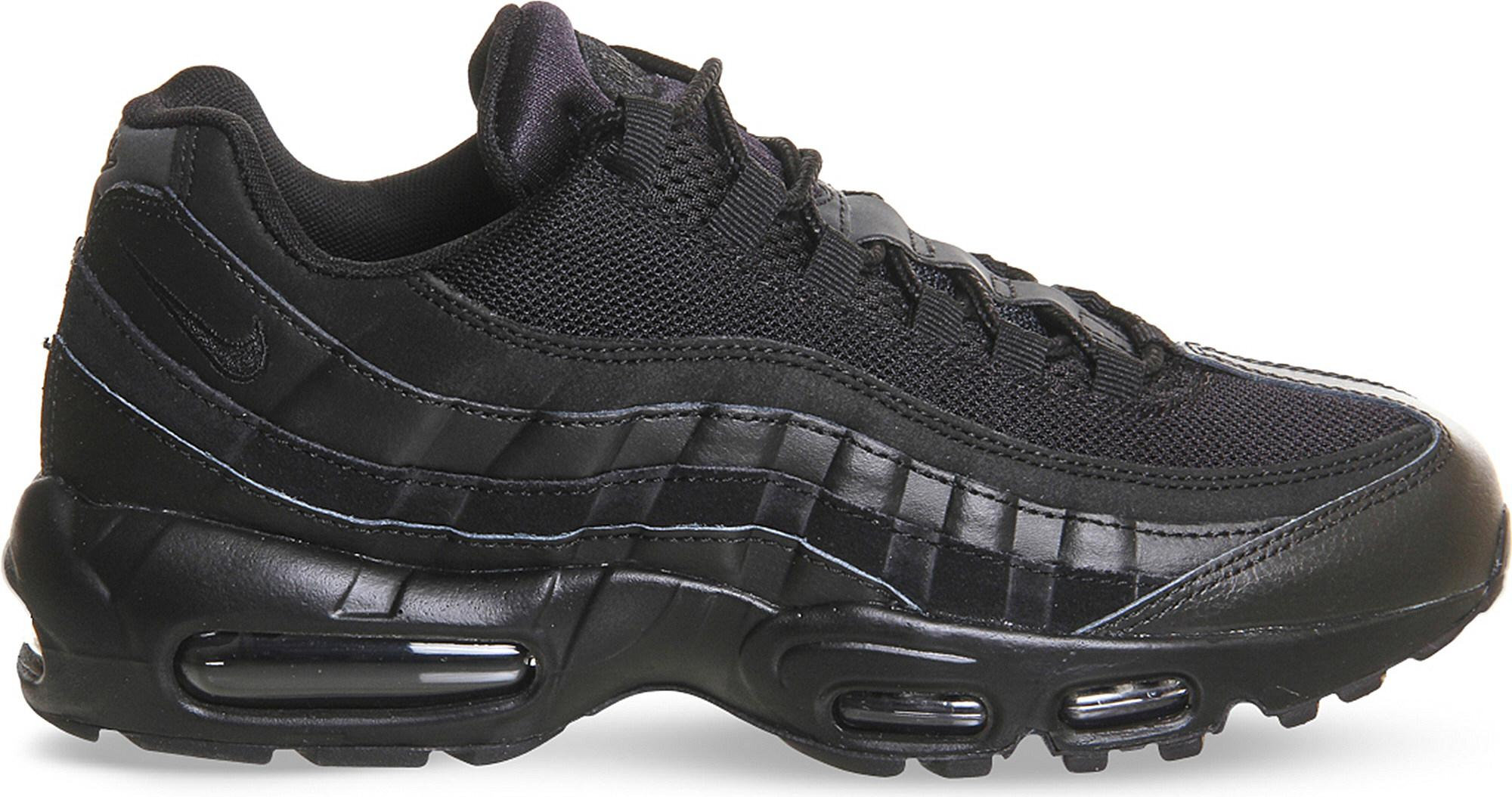 ... 3c71c 75360 Nike Air Max 95 Essential Mesh And Leather Trainers in  Black quite nice ... db6bb3751f