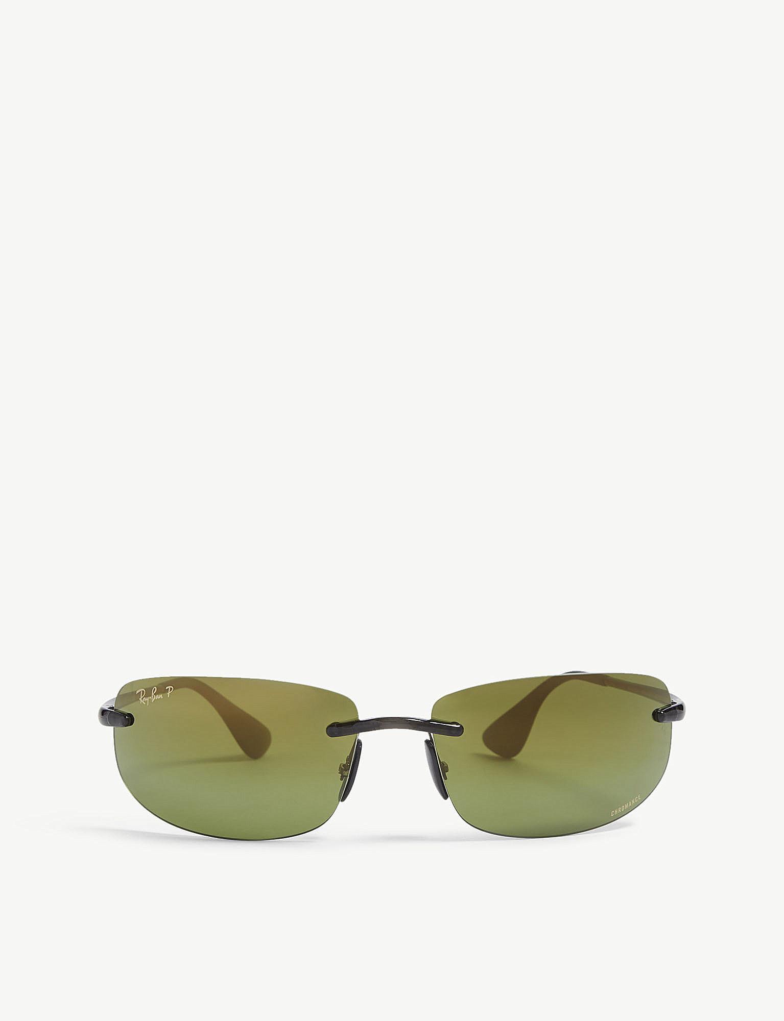 acd4e8df90 Ray-Ban Rb4254 Chromance® Rectangular Sunglasses in Gray for Men - Lyst