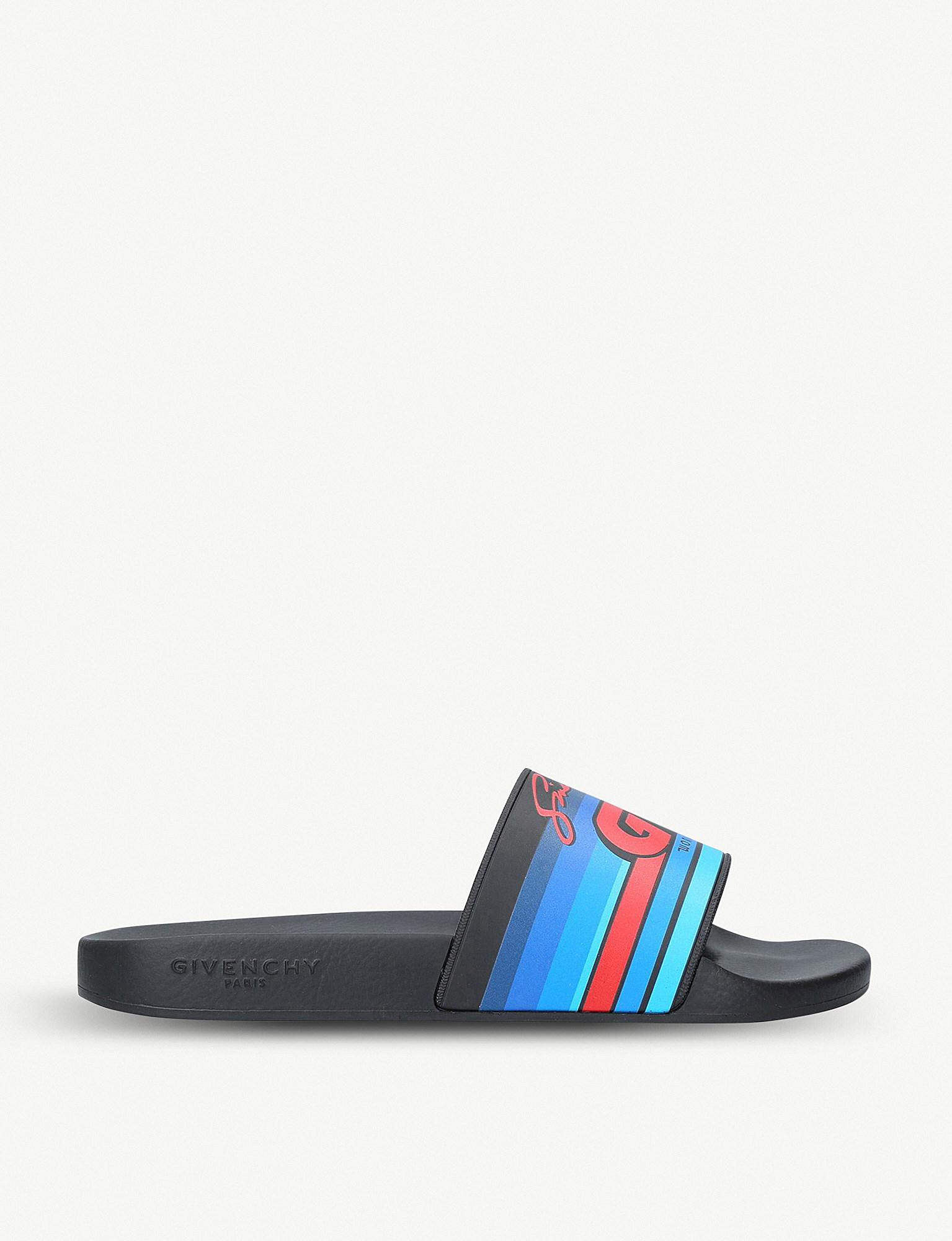 Givenchy Gv printed slide sandals 6yDgp