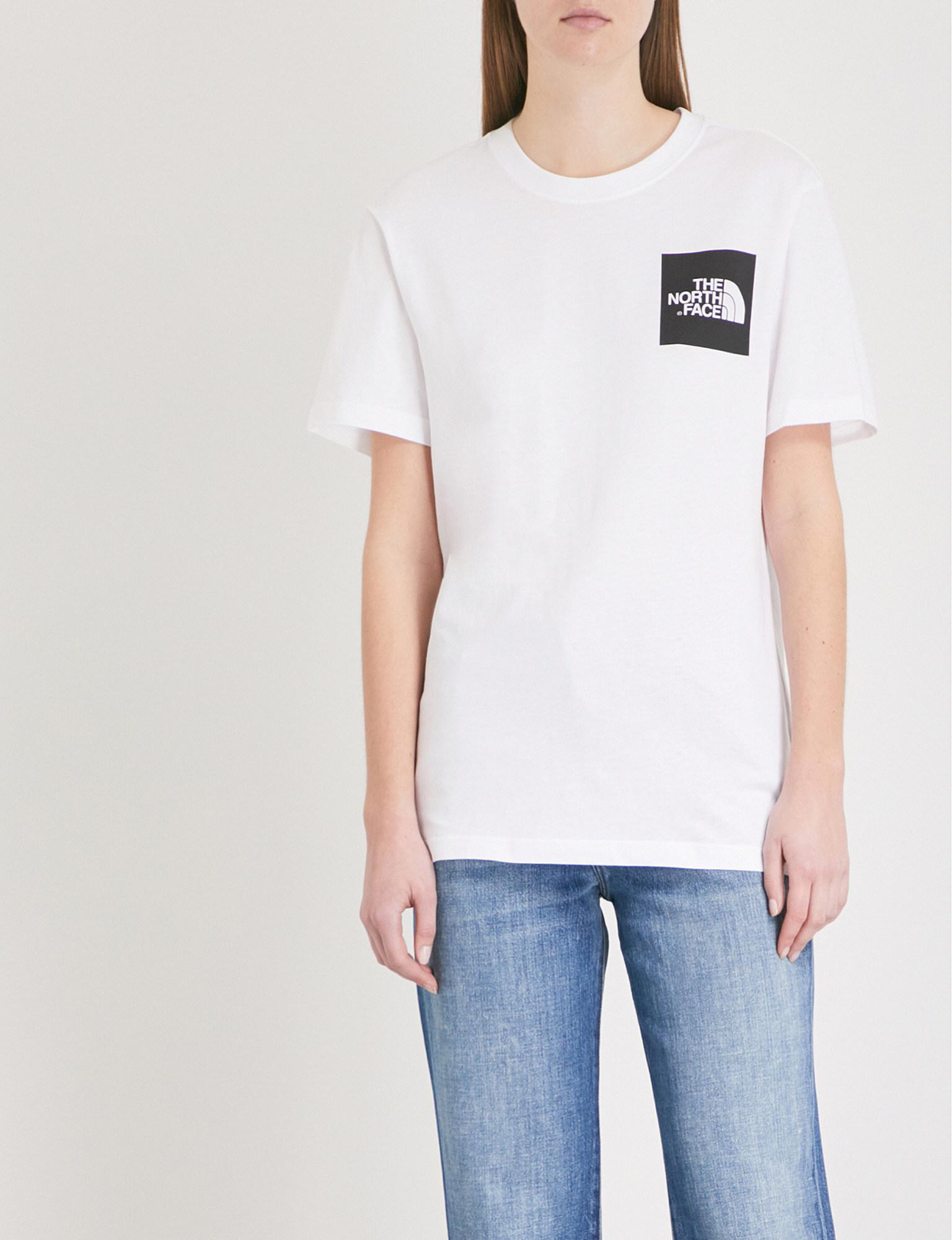 The North Face. Women's White Logo-print Cotton-jersey T-shirt