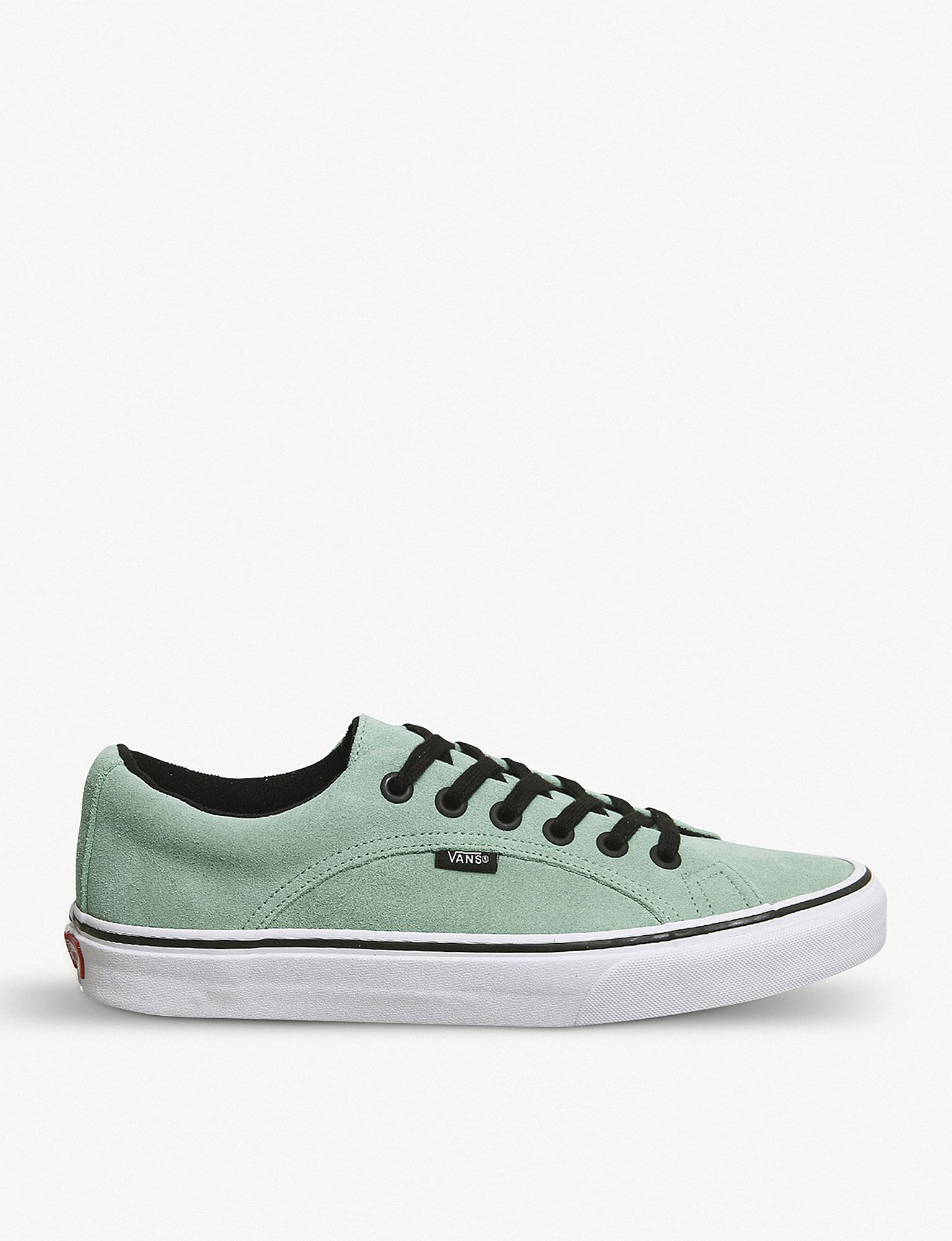 cf0a82b75462a1 Vans Lampin Suede Trainers in Green for Men - Lyst