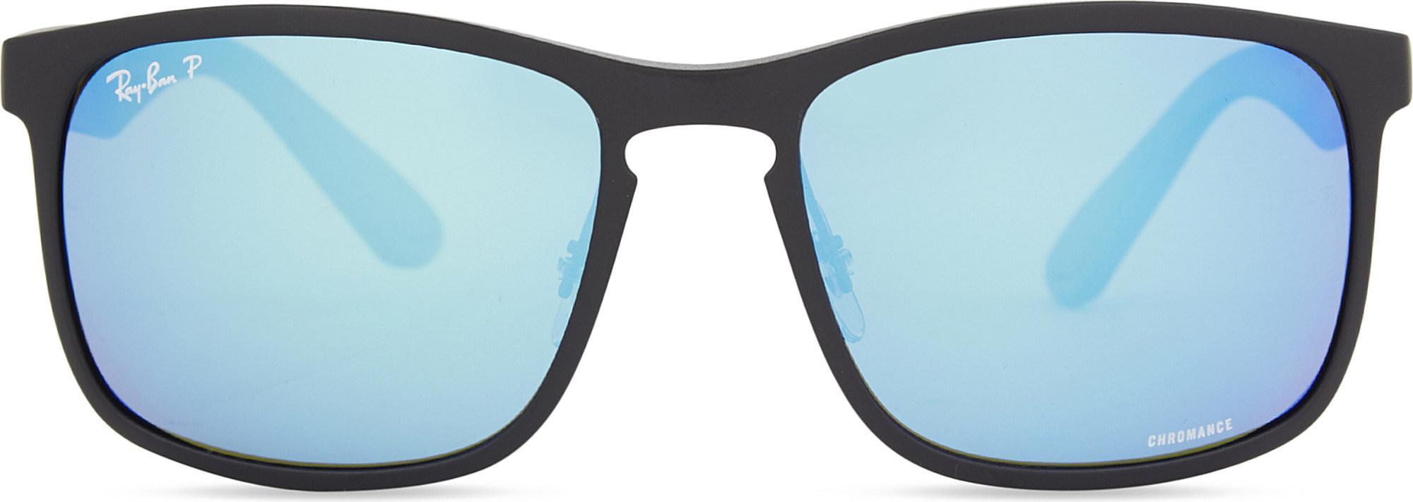 2c217e4a8609e Lyst - Ray-Ban Rb4264 Square-frame Sunglasses in Black