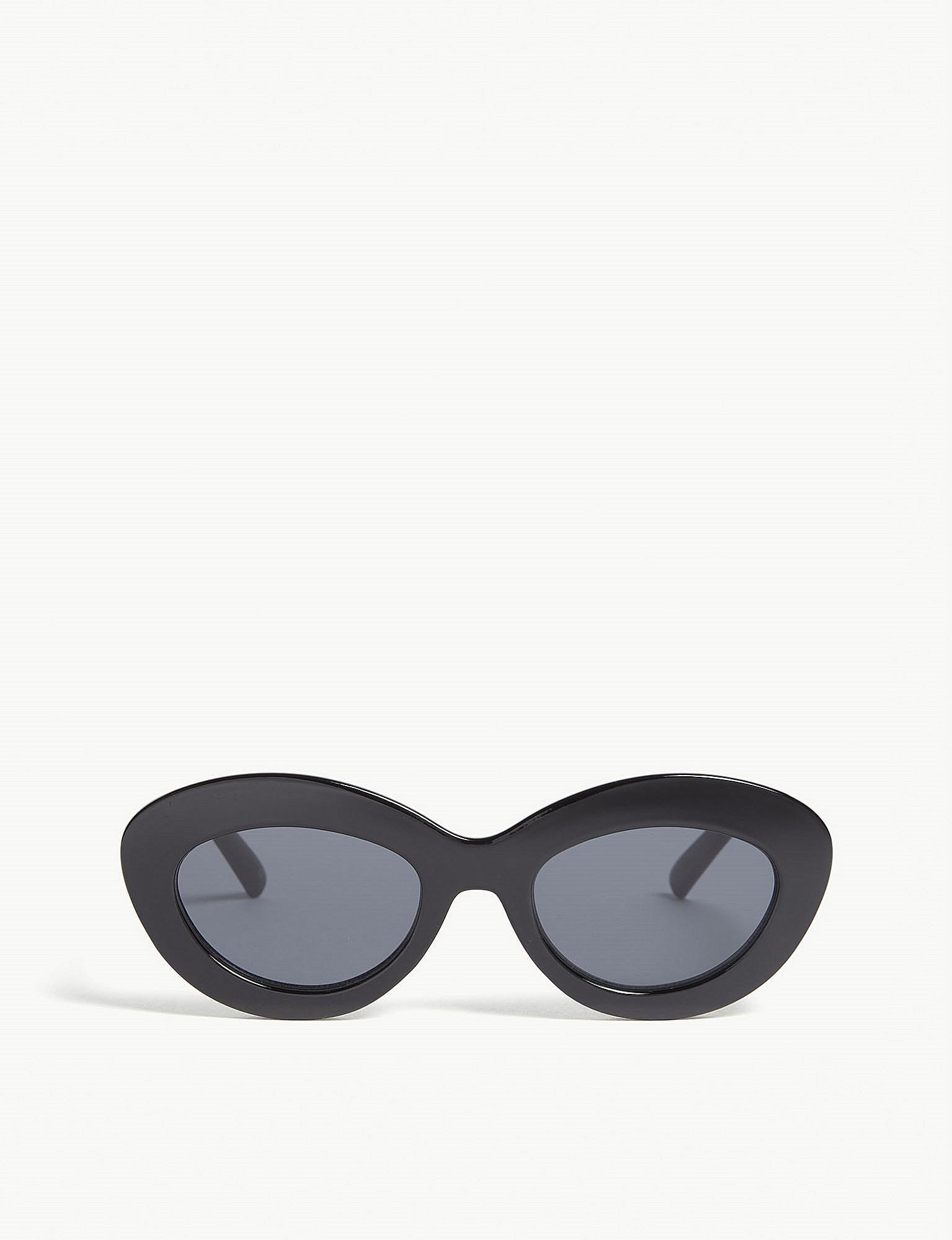 ced7db8d8fa Le Specs Fluxus Cat-eye Sunglasses in Black - Lyst