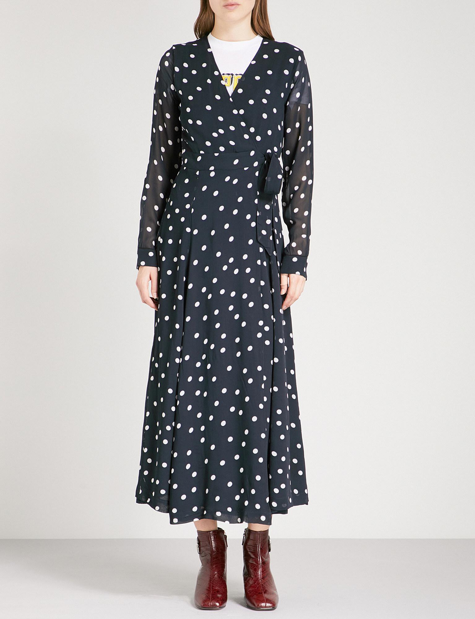 bf63923c Ganni Marceau Georgette Maxi Dress - Lyst