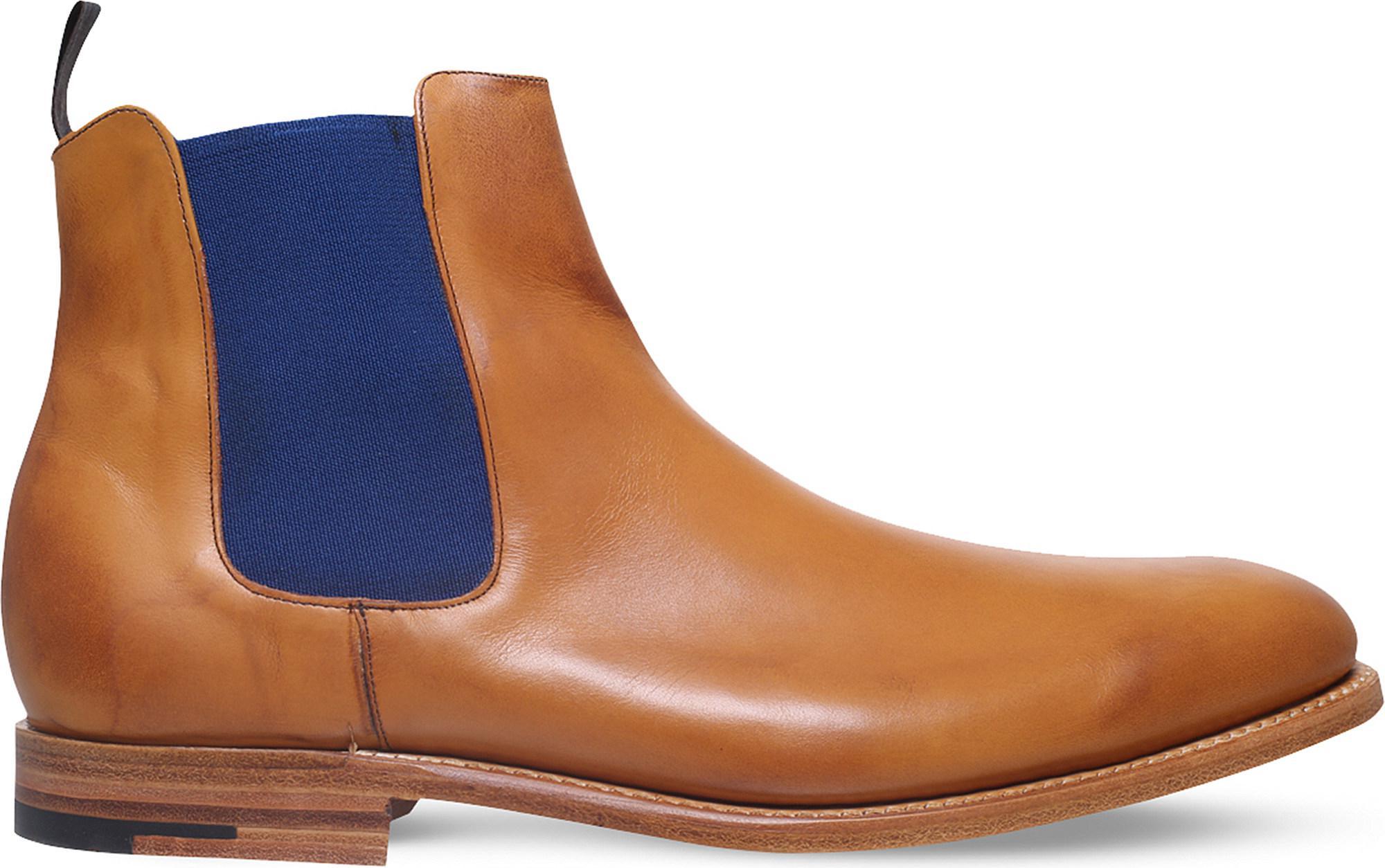 ef82f374a70 Barker - Brown Hopper Leather Chelsea Boots for Men - Lyst