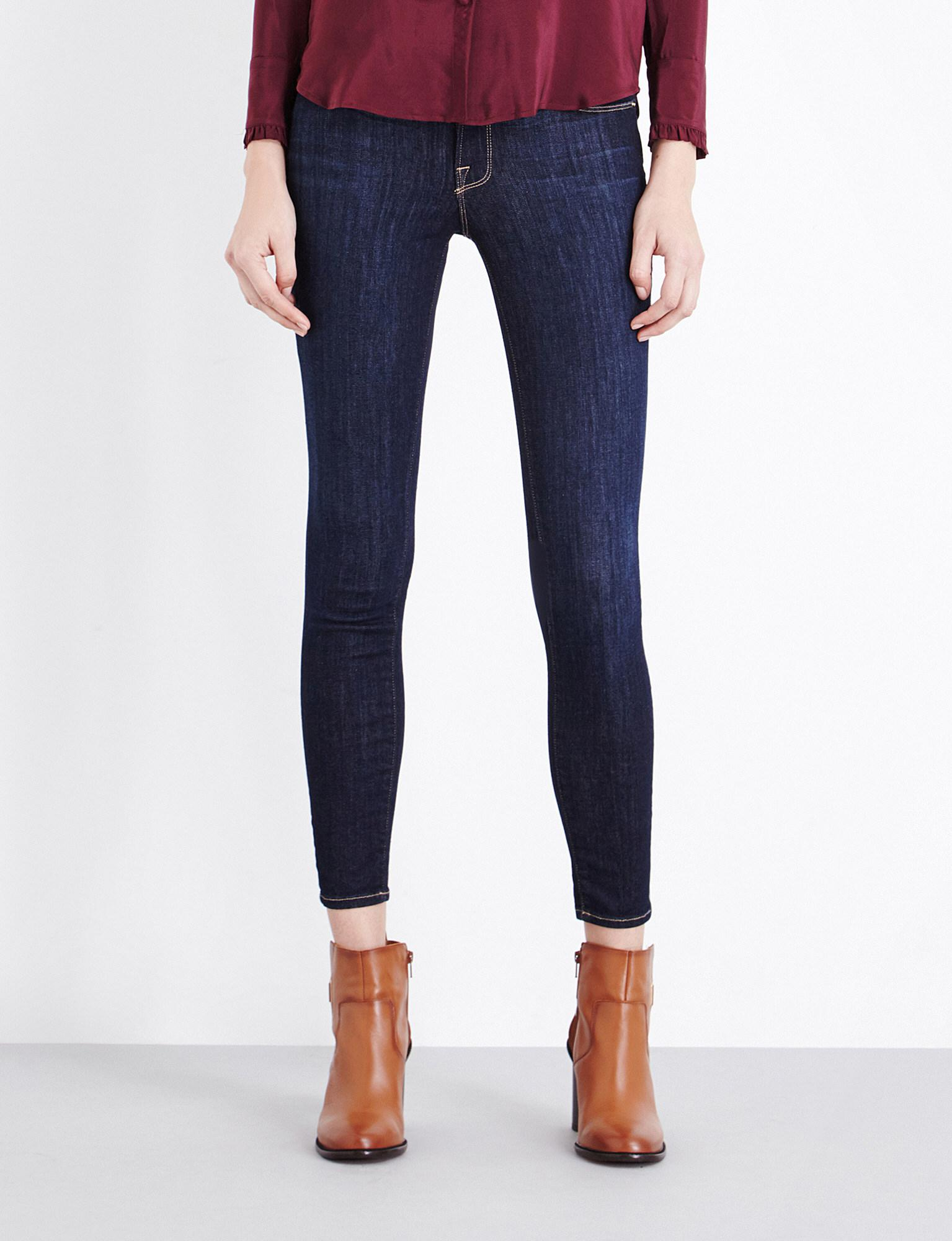 Lyst - Frame Le Skinny De Jeanne Skinny Mid-rise Jeans in Blue