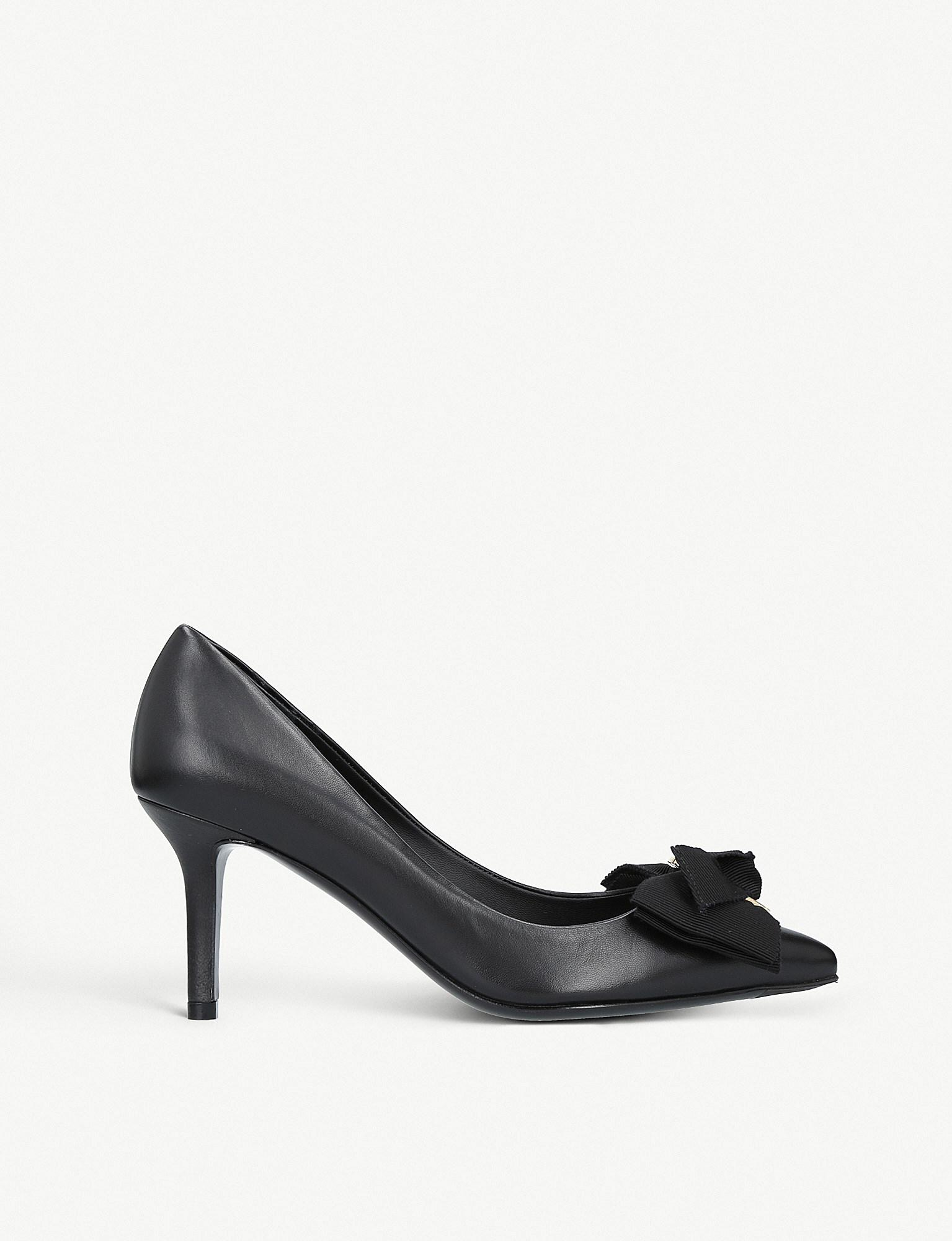 Talla 70 Pumps with Gros Grain Ribbon in Black Nappa Viva Leather Salvatore Ferragamo 74axe