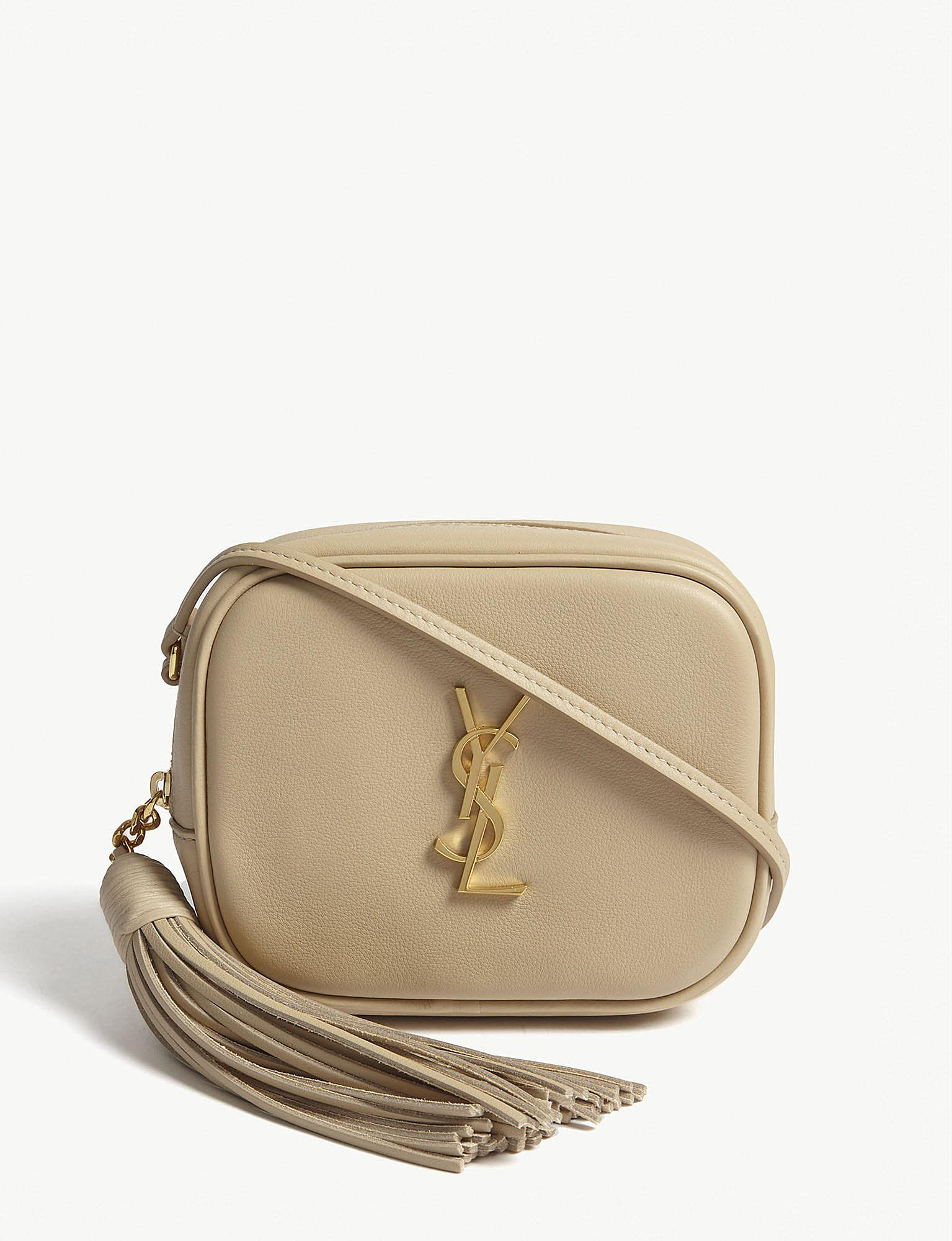 c7f1c63d84db Lyst - Saint Laurent Toy Blogger Leather Cross-body Bag in Natural