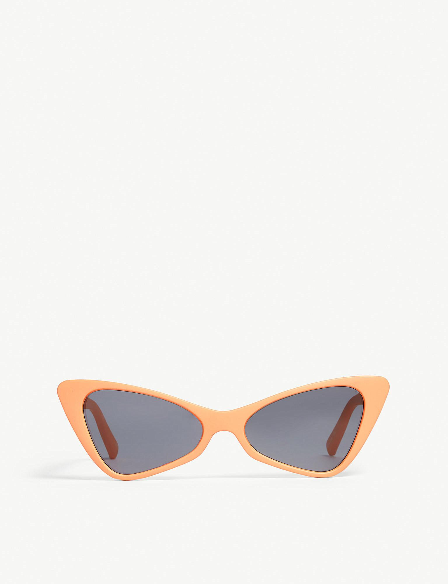 6fb7ce4a580e Lyst - Le Specs On The Hunt Cat-eye Sunglasses in Blue