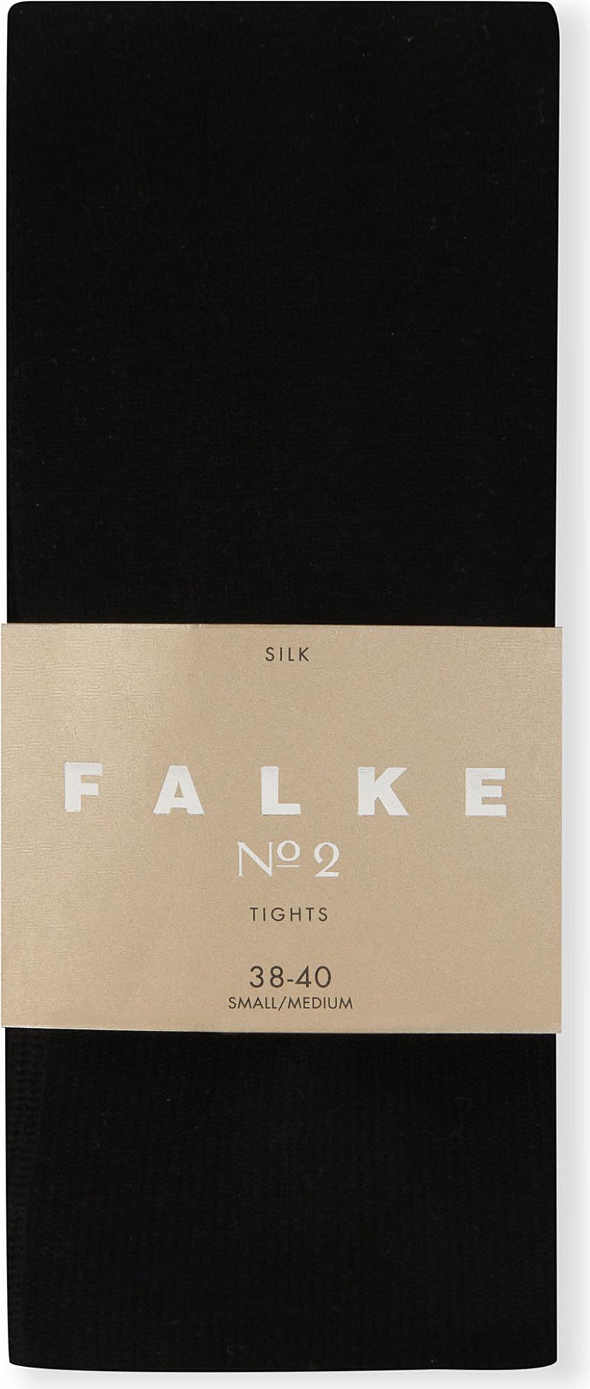 e091ff4ef Falke - Black Silk No.2 Tights - Lyst. View fullscreen