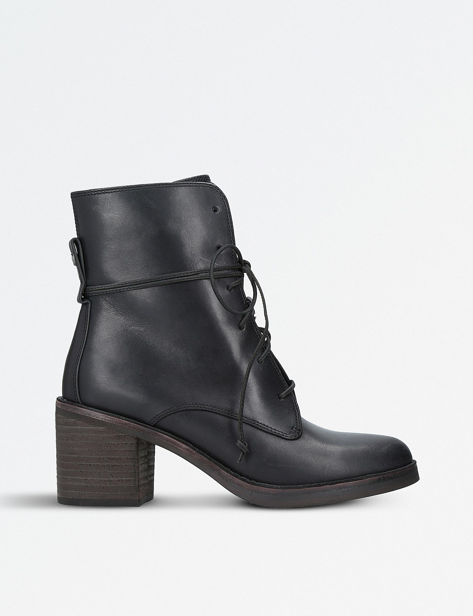 a97f9a26e4b0 UGG Oriana Leather Ankle Boots in Black - Lyst