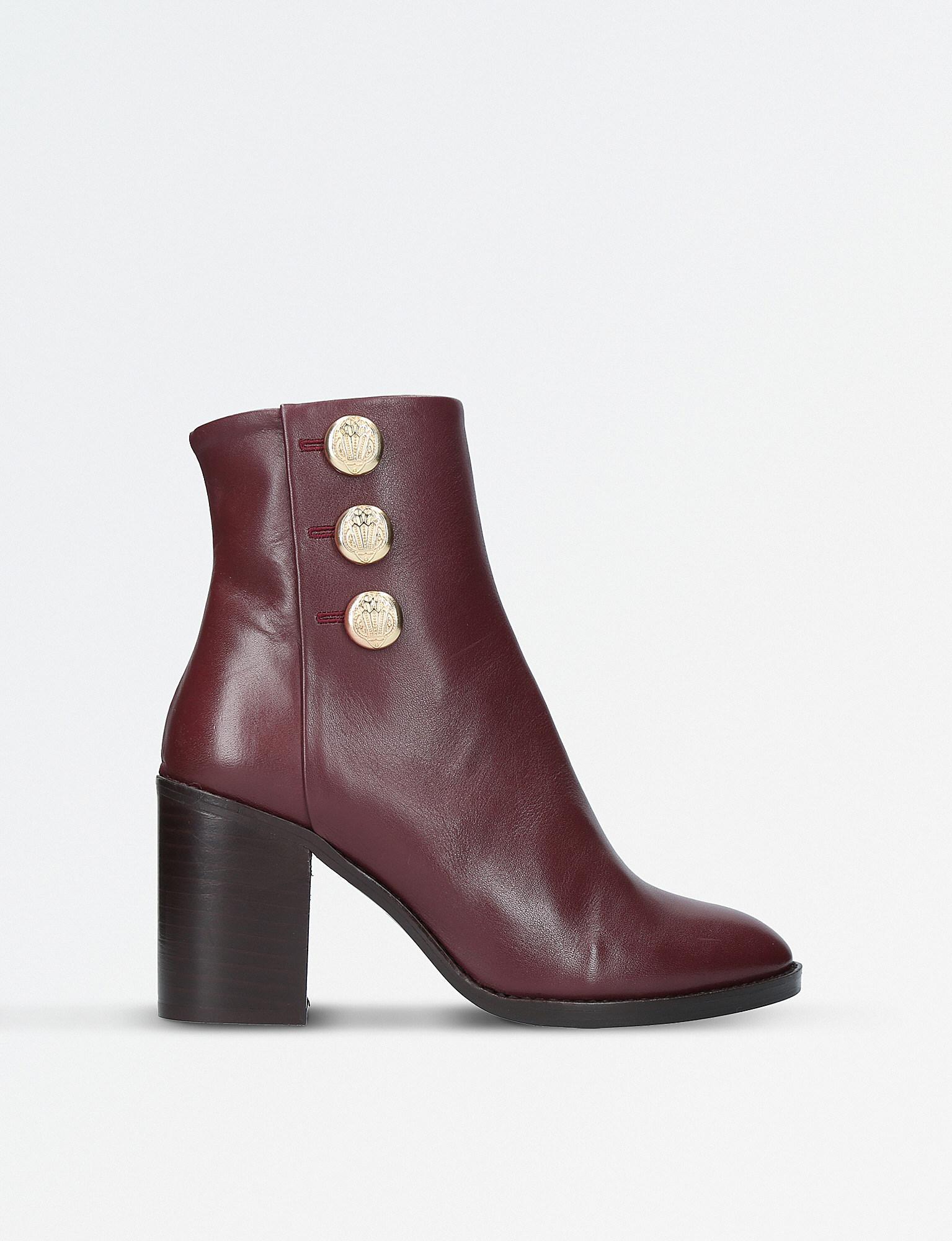 4355f4d0287f0 Lyst - Kurt Geiger Dante Leather Boots in Purple