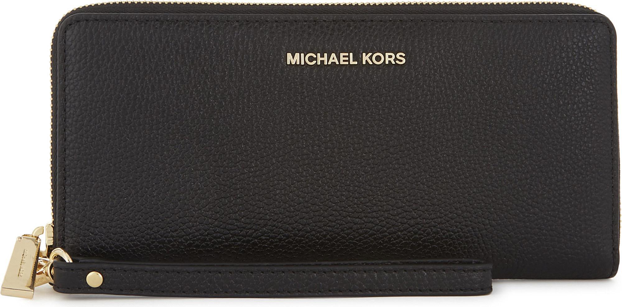 f1b92db2820c MICHAEL Michael Kors. Women's Black Money Pieces Leather Continental Wallet