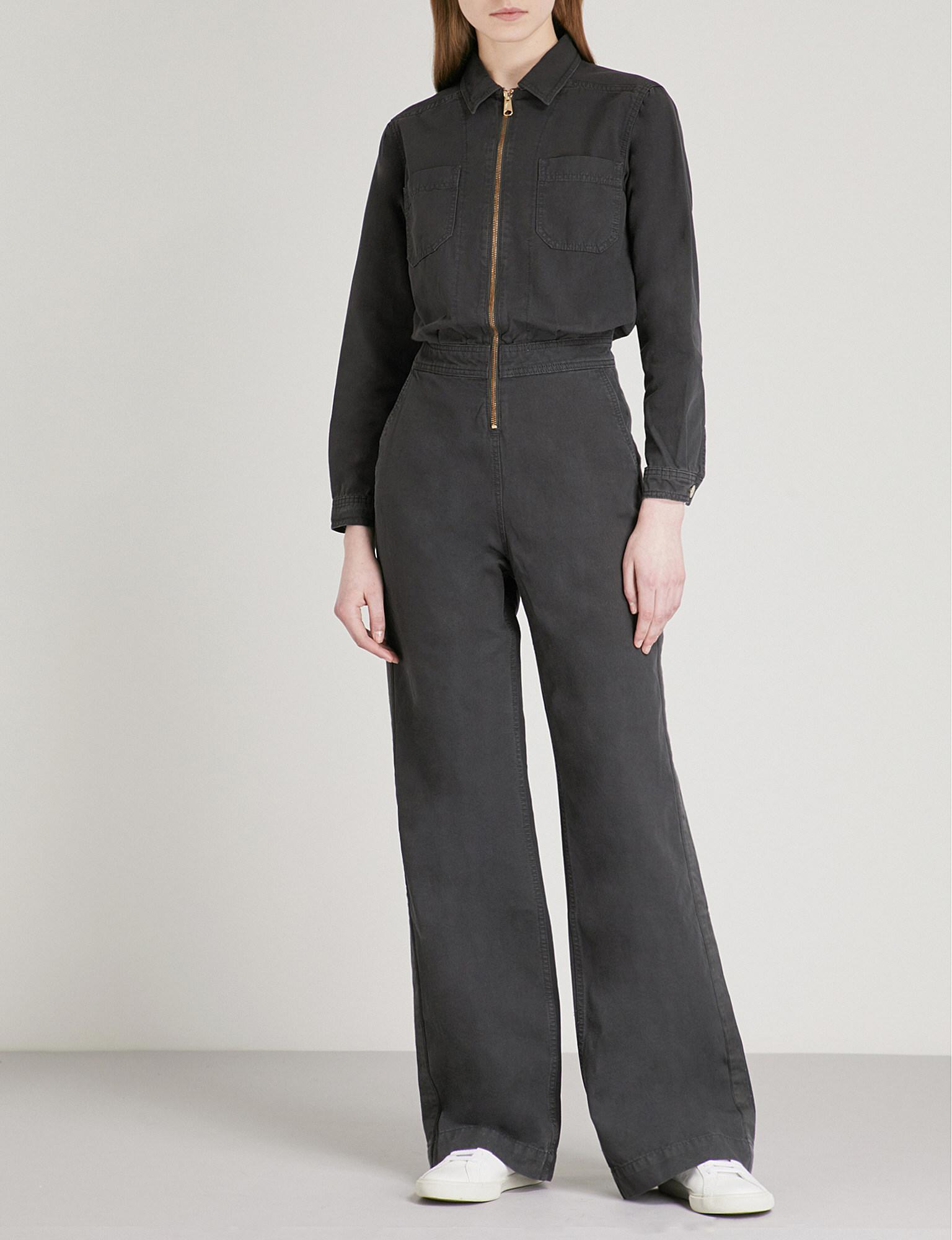 231ca29e446 Lyst - Tommy Hilfiger X Gigi Hadid Cotton Jumpsuit in Gray