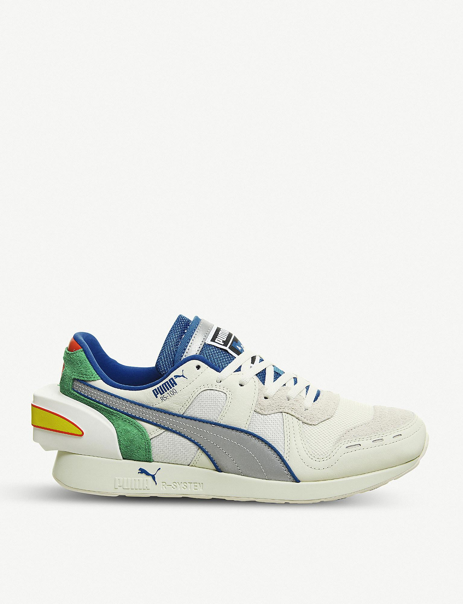 b10089fcc446b4 Puma X Ader Error Rs-100 Suede And Mesh Trainers in Blue for Men - Lyst