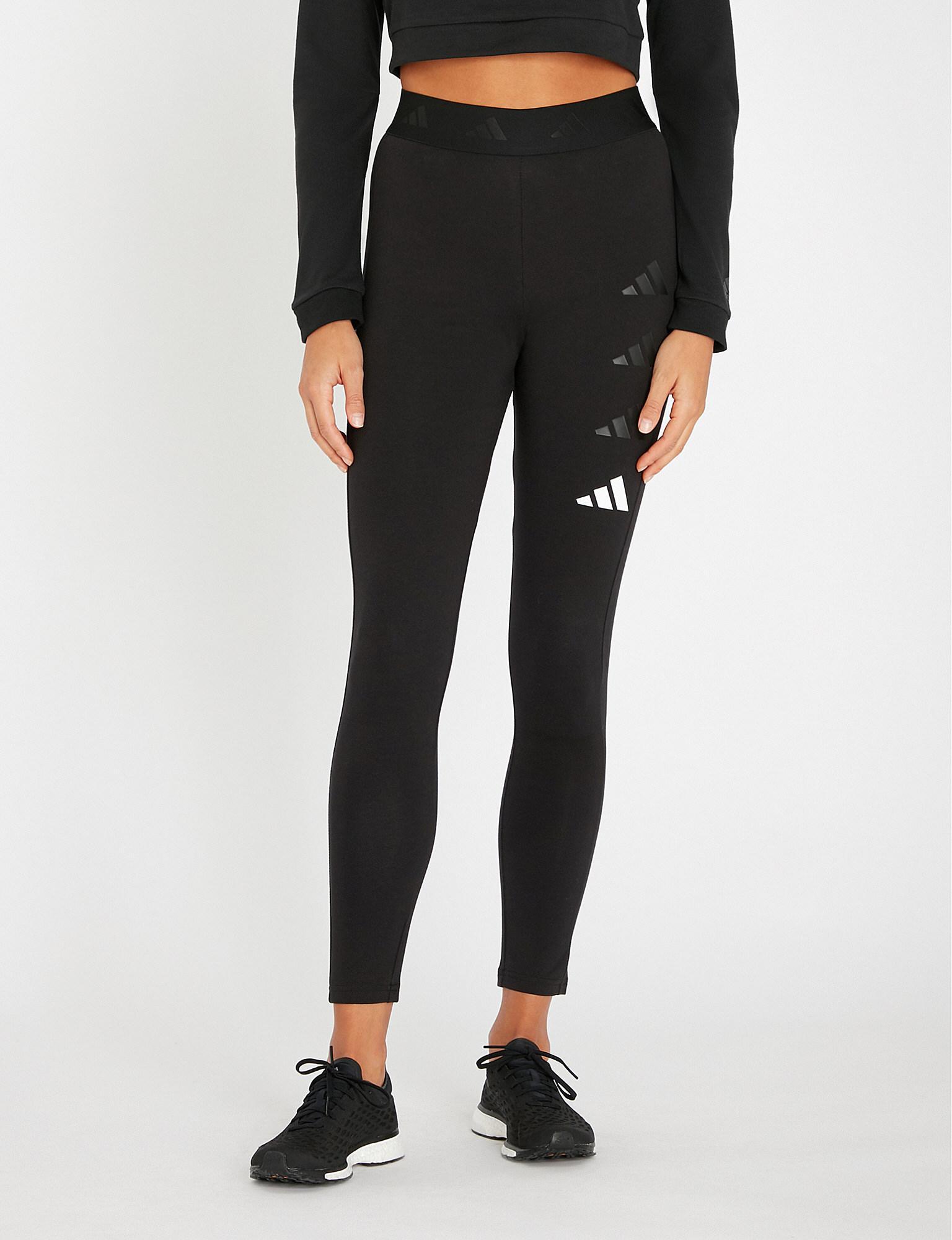 c811673e880 Lyst - adidas Originals The Pack Stretch-cotton leggings in Black