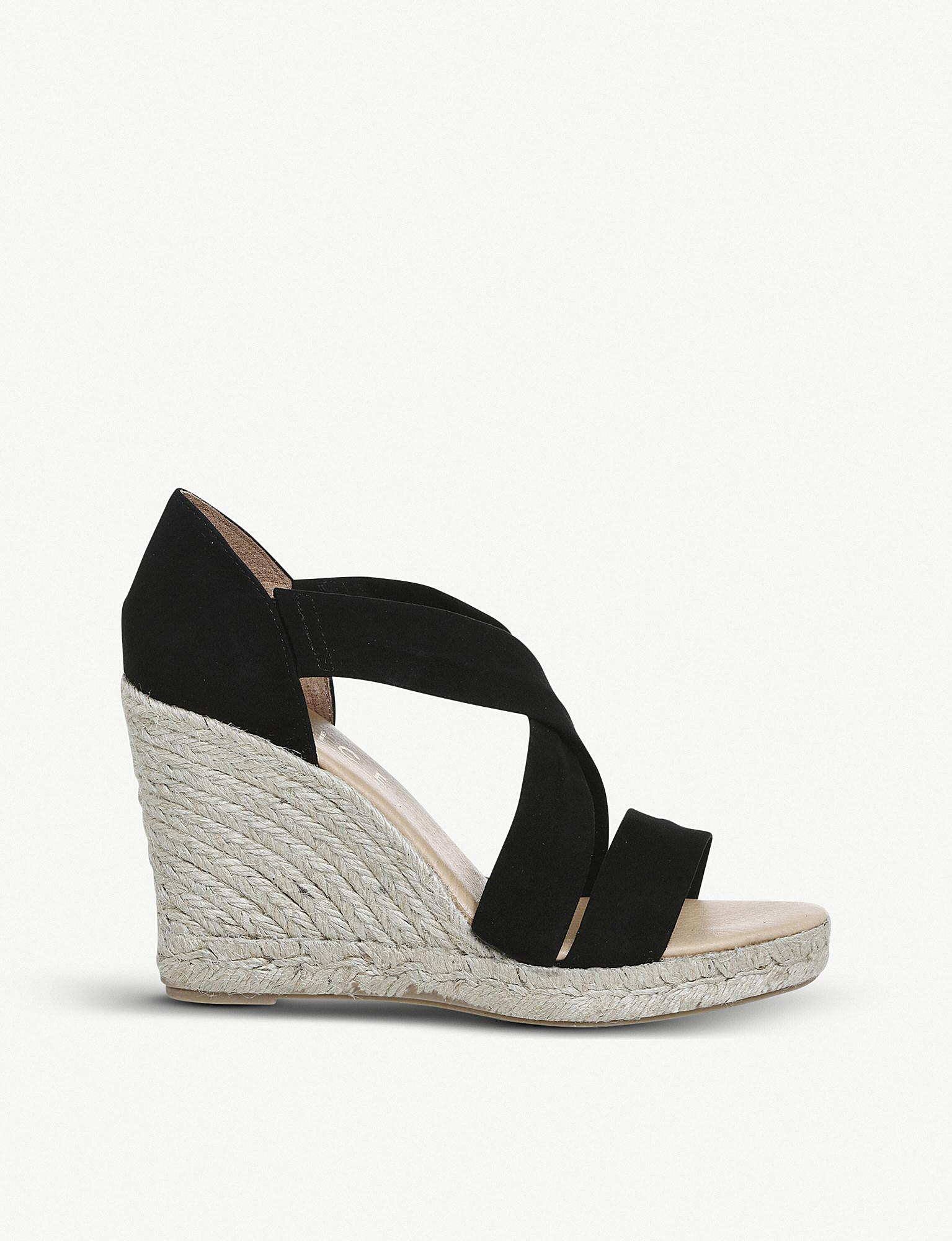 2e23a130e89 Office Holiday Suede Espadrille Wedge Heel Sandals in Black - Lyst