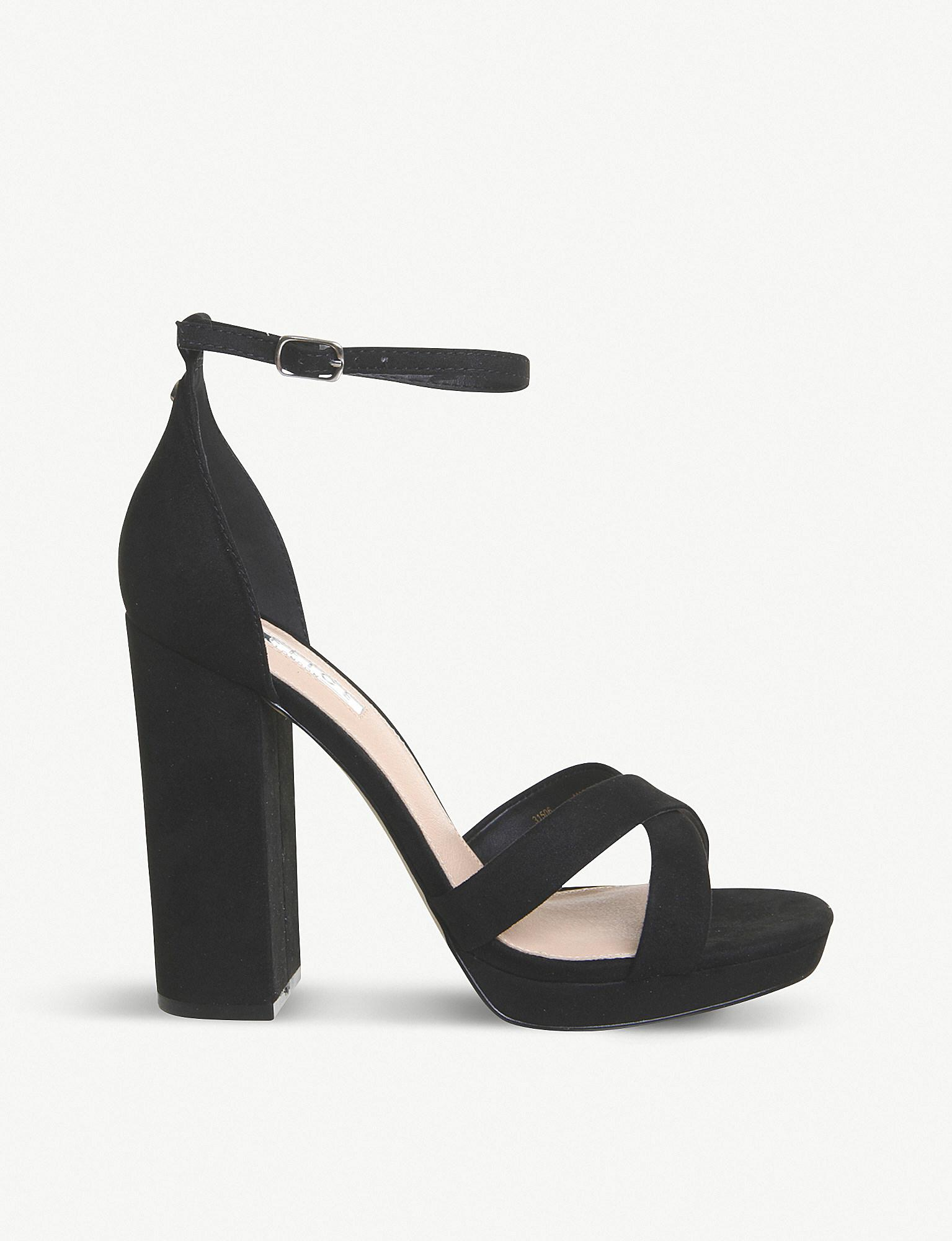 83590780dc4 Lyst - Office Hiccup Faux-leather Platform-heeled Sandals in Black
