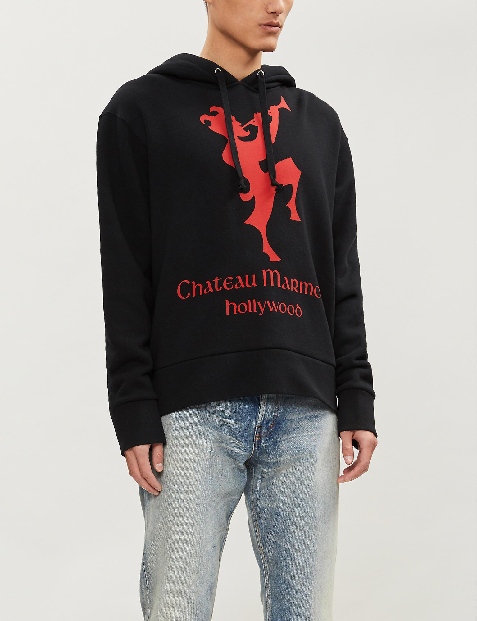 13085bdf52d6 Gucci Black And Red Chateau Marmont Hoodie in Black for Men - Save ...