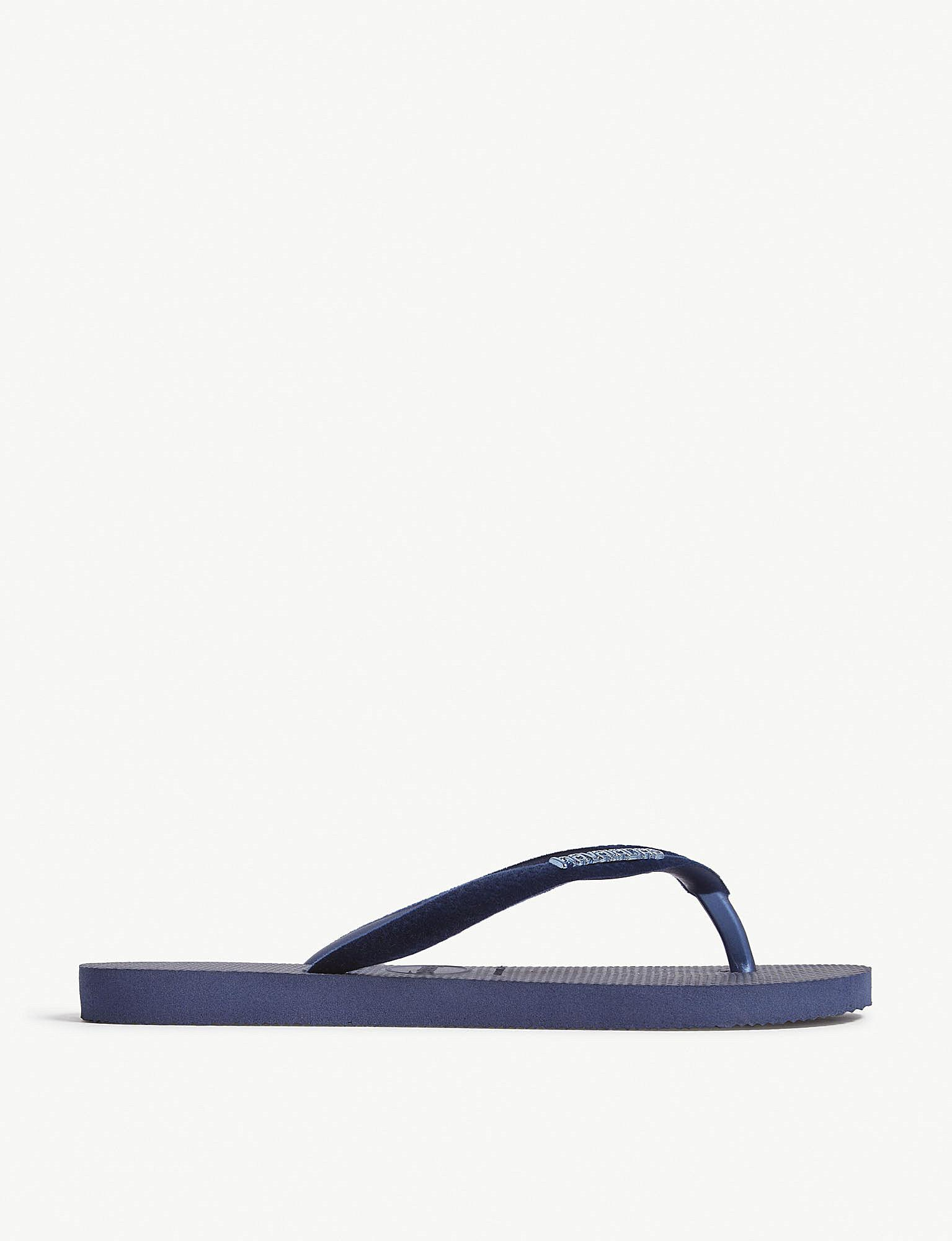 c1fd72b45734b4 Lyst - Havaianas Allure Maxi Embellished Rubber Flip-flops in Blue