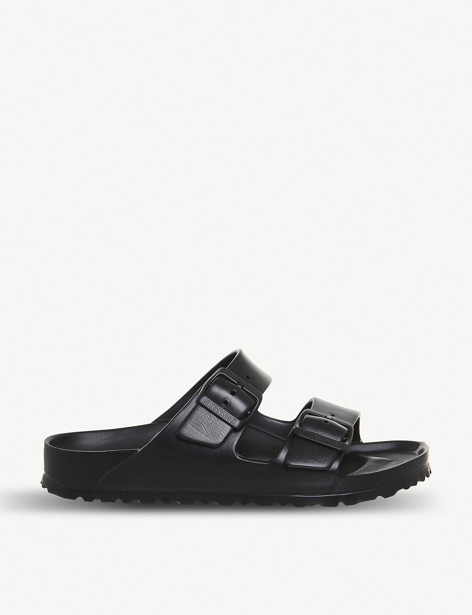 01c9ace5a996 Birkenstock - Black Arizona Faux-leather Sandals for Men - Lyst. View  fullscreen