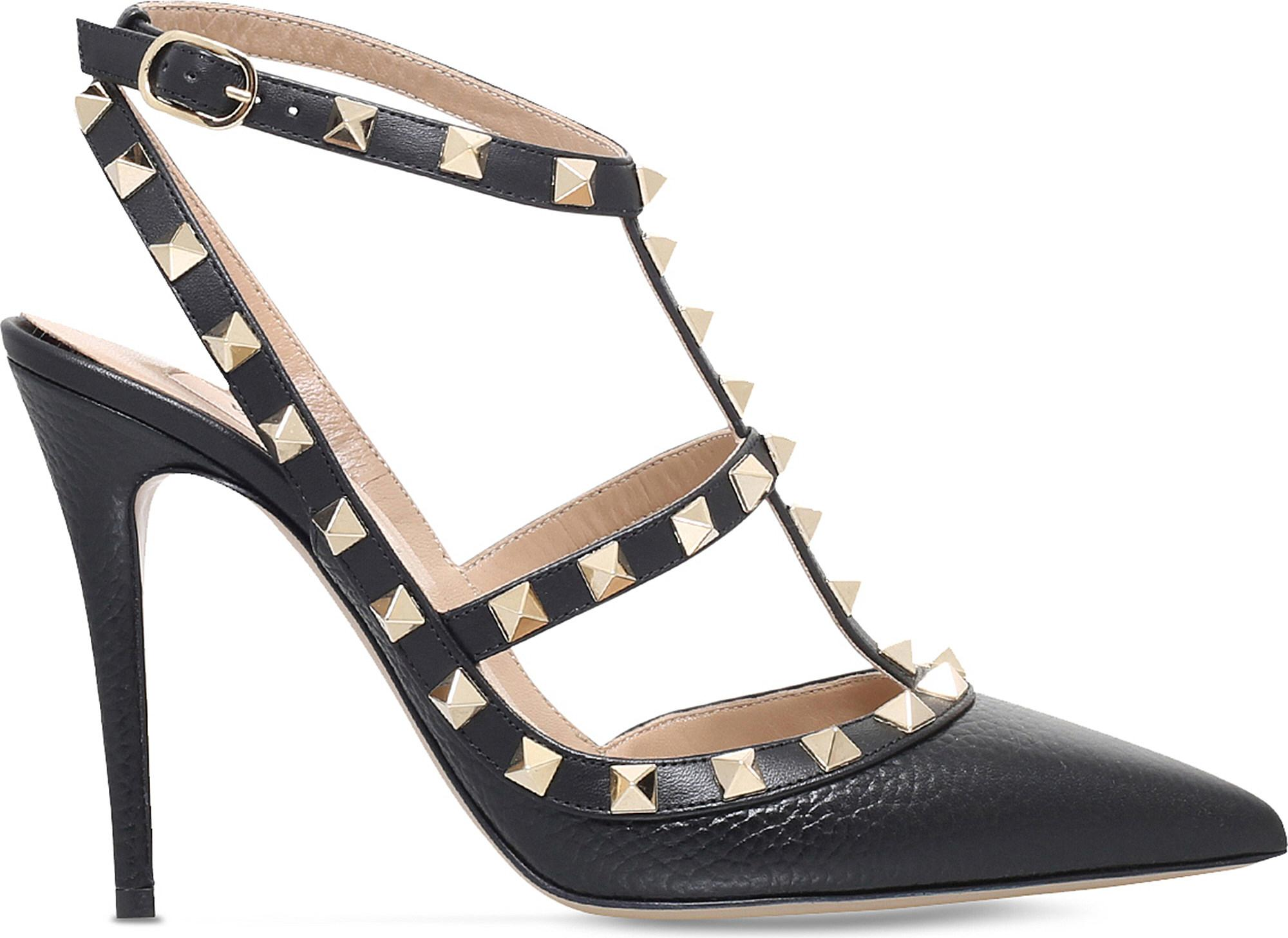 92f2626e6f5dc Lyst - Valentino Rockstud 100 Leather Courts in Black - Save 13%
