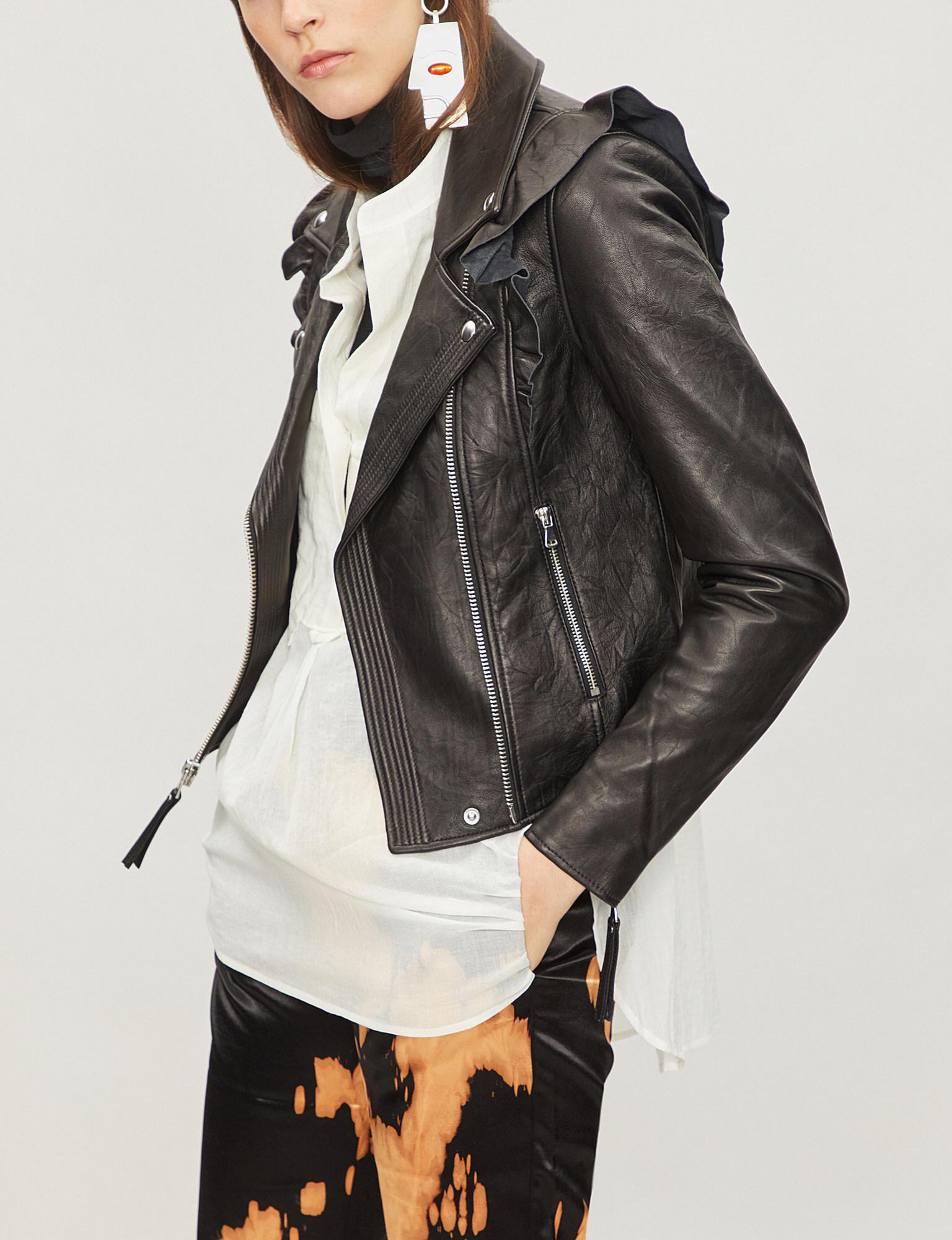 fd4de0641568 PAIGE Annika Leather Biker Jacket in Black - Lyst