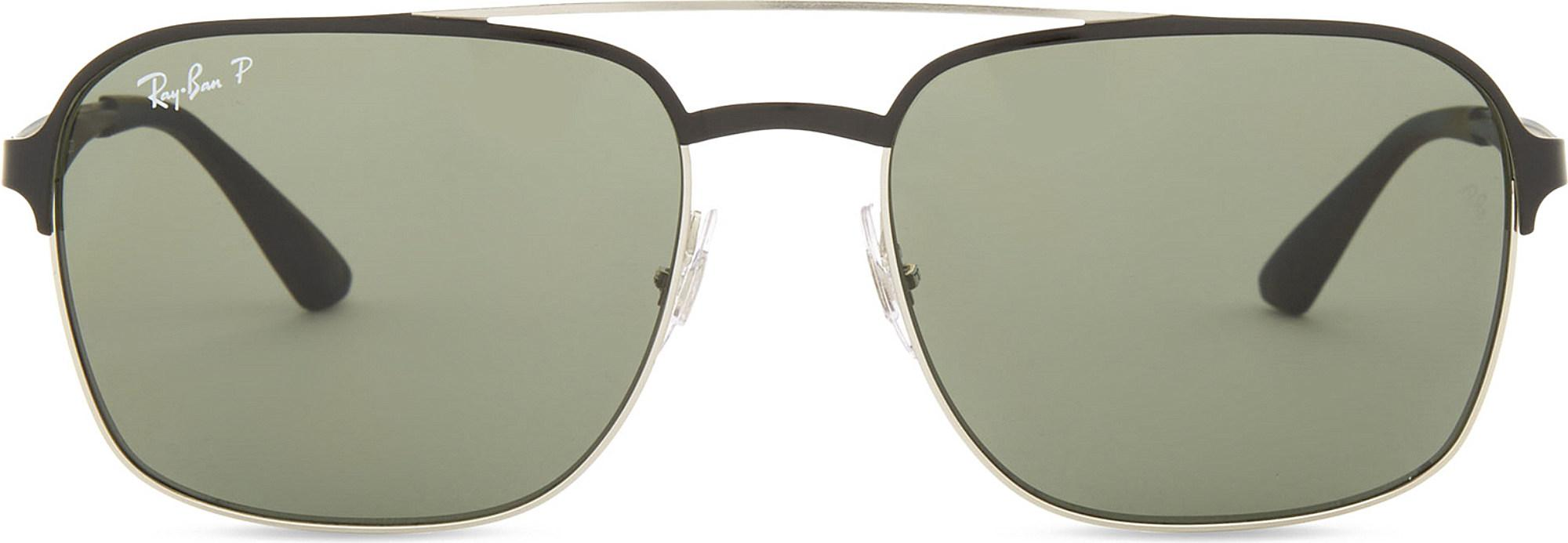 5490f189e2 Lyst - Ray-Ban Rb3570 Square-frame Sunglasses in Black
