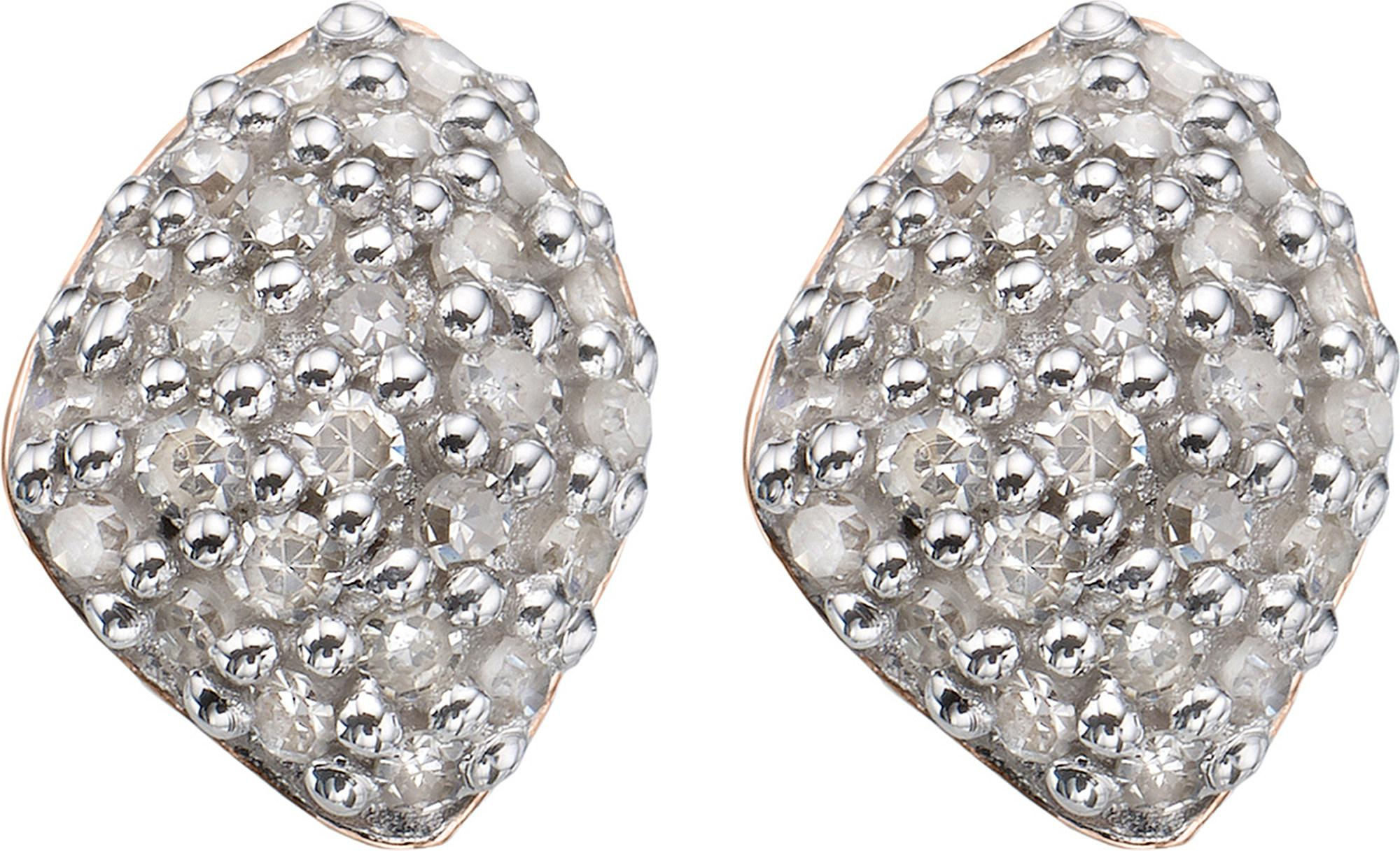 Rose Gold Nura Mini Teardrop Stud Earrings Diamond Monica Vinader QWFoTQRa