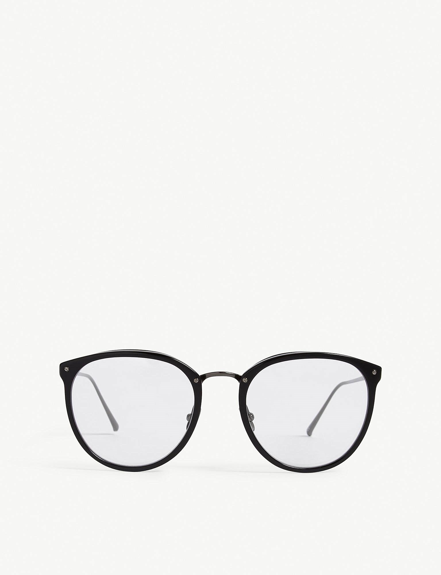 58c35c1f283b Lyst - Linda Farrow Lfl251 Oval-frame Glasses in Black