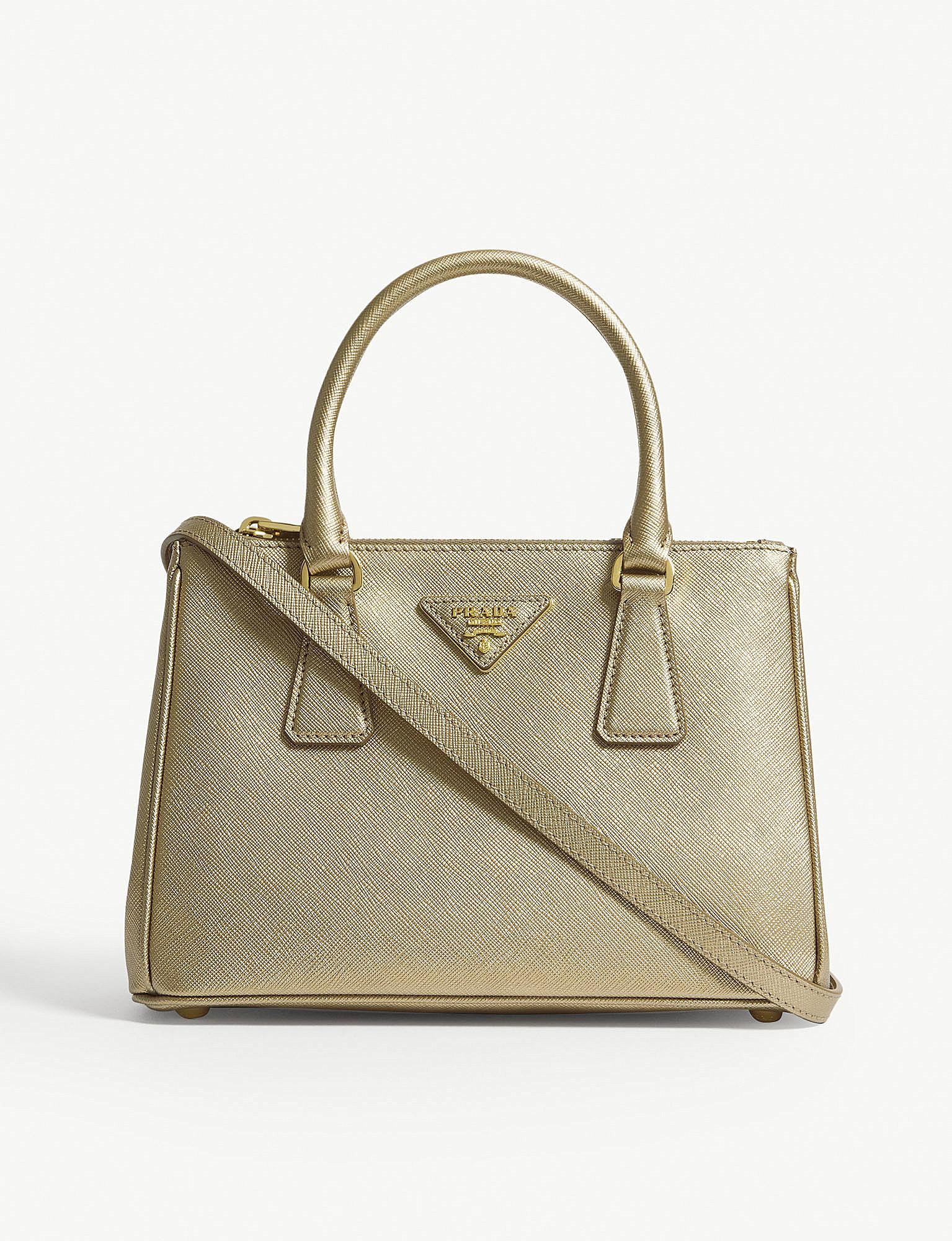f31f93acdf Lyst - Prada Gold Galleria Leather Tote Bag in Metallic