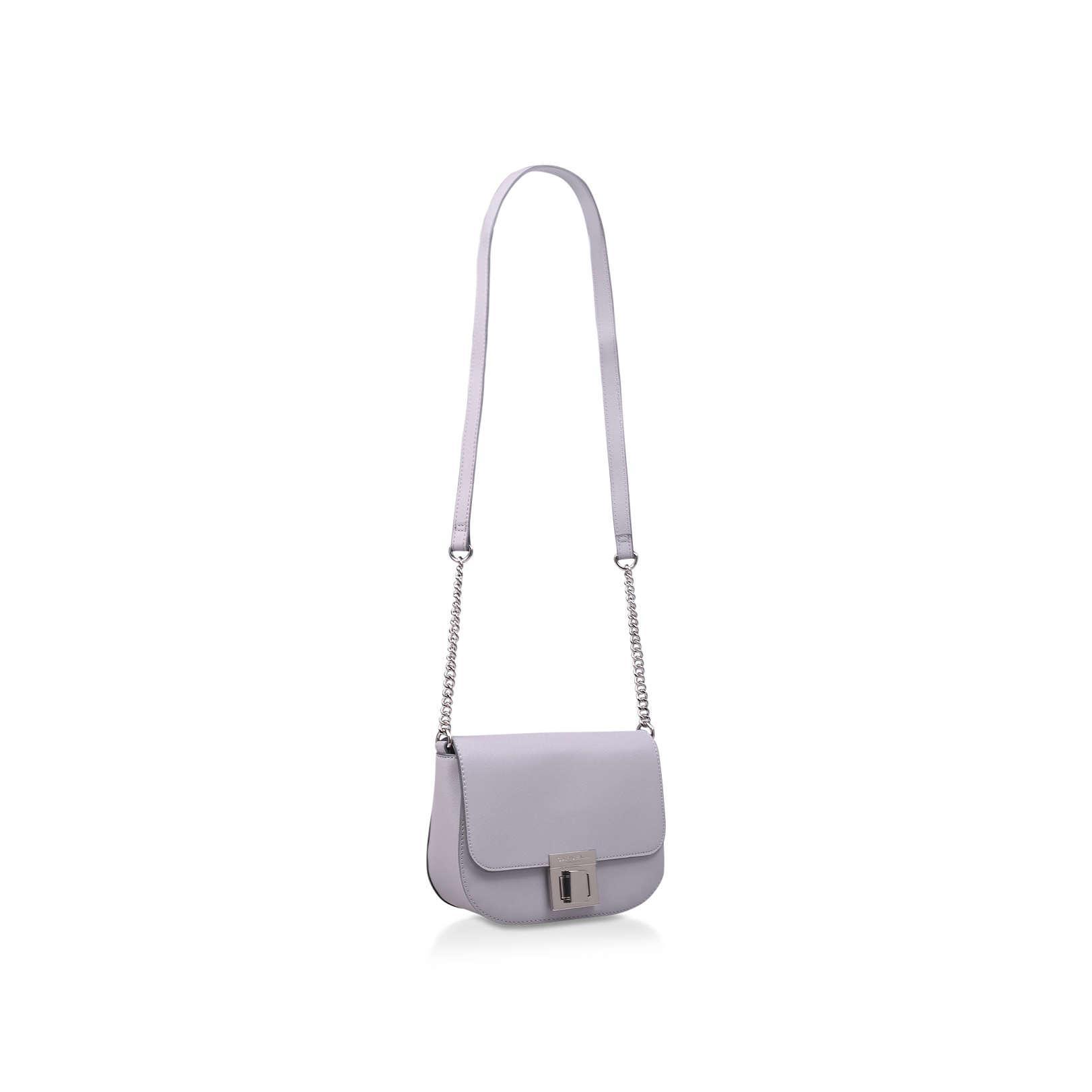 Carvela Kurt Geiger Sara Clean Saddle Bag in Gray - Lyst b2606c36cec6e