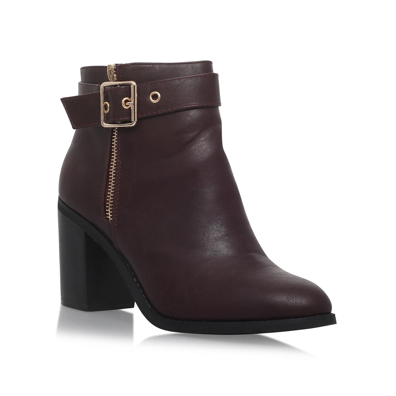 5e573226f81 Miss Kg Janelle Wine High Heel Ankle Boots - Lyst