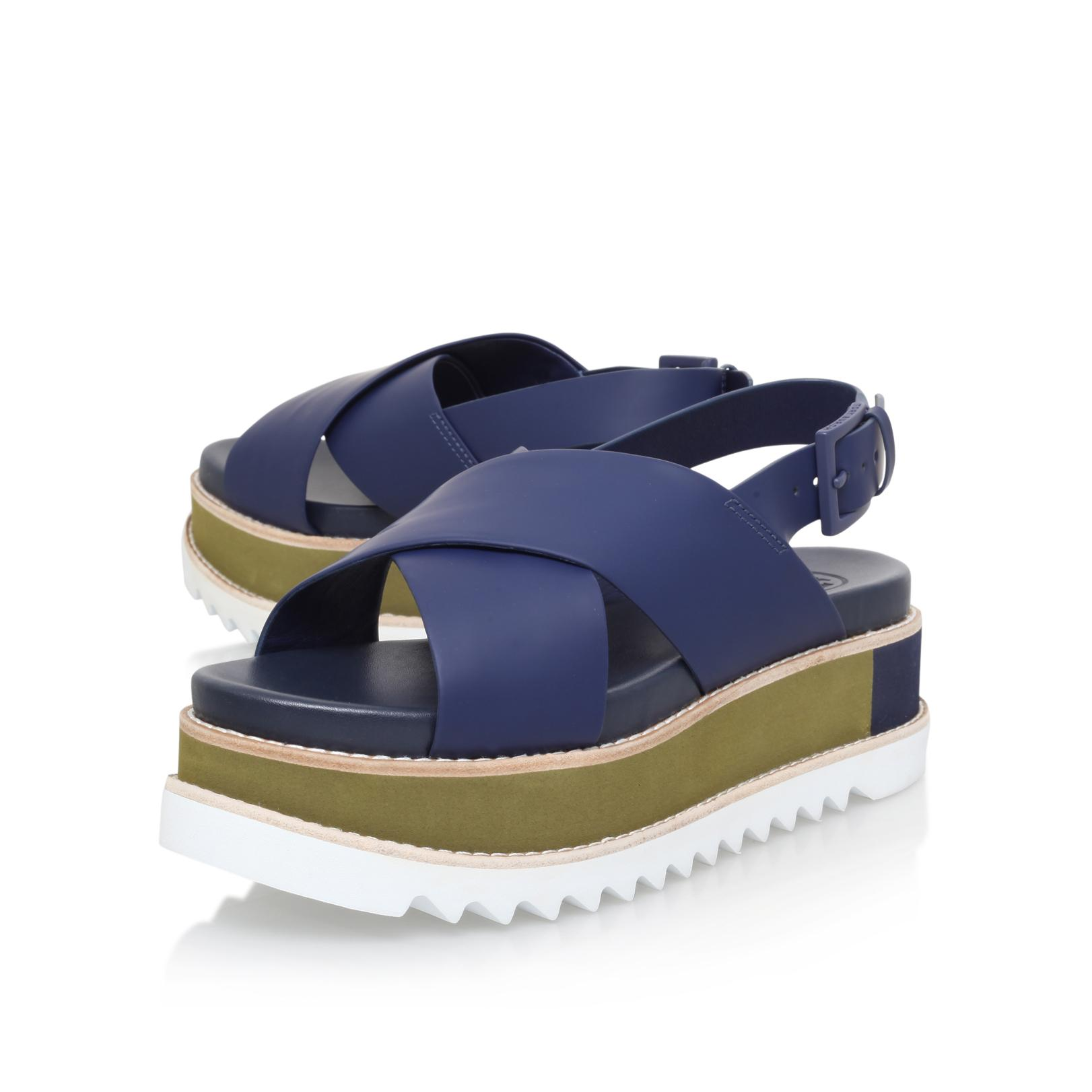 7727f713e12 Tory Burch Gloriette Plat Sandal in Blue - Lyst