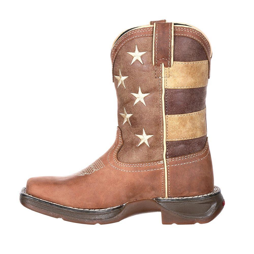 904495b1e3328 Durango Lil' Rebel By Little Kids' Faded Glory Flag Western Boot in ...