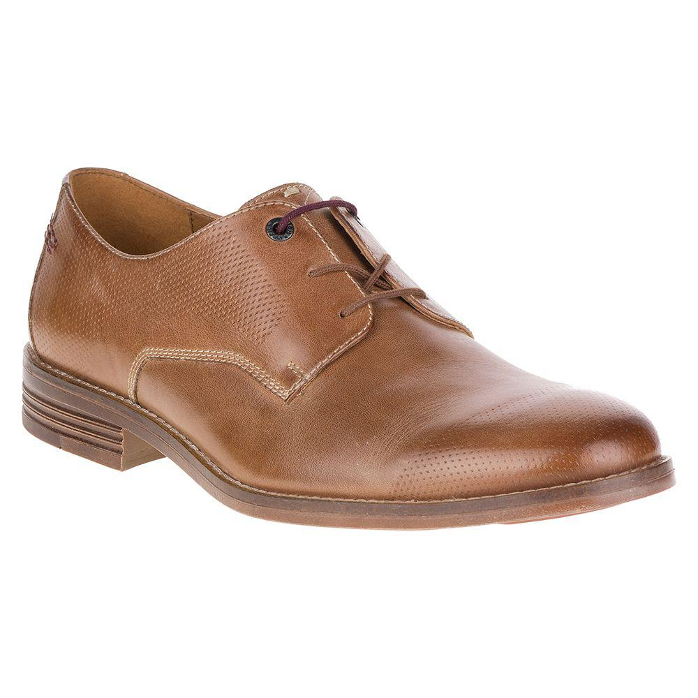 Hush Puppies Prinze Hopper Oxford(Men's) -Dark Brown Full Grain Leather Clearance Low Price Cheap Sale Pay With Visa Free Shipping Visa Payment Latest Cheap Price FfwJPOxT