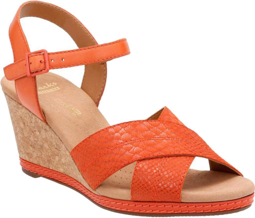 8a0532489a5 Lyst - Clarks Helio Latitude Wedge Sandal in Orange