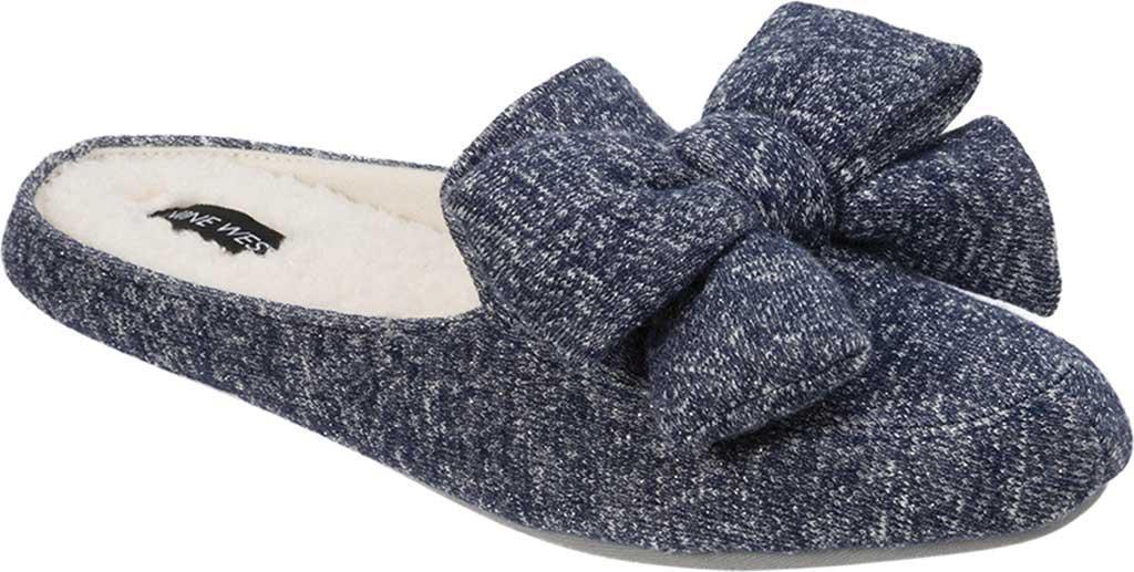 4be4e5887d6 Lyst - Nine West Loafer Scuff Slipper With Bow And Terry Sock in ...