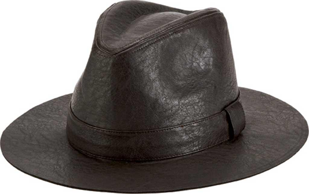 3ad72081e5601 Lyst - San Diego Hat Company Faux Leather Fedora Cth1504 in Brown ...