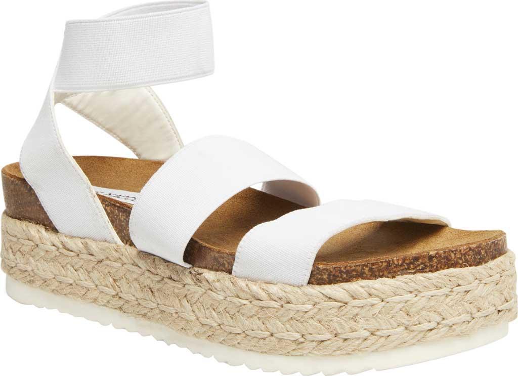 a6efe8093cf Lyst - Steve Madden Kimmie Flatform Espadrille Sandal in White