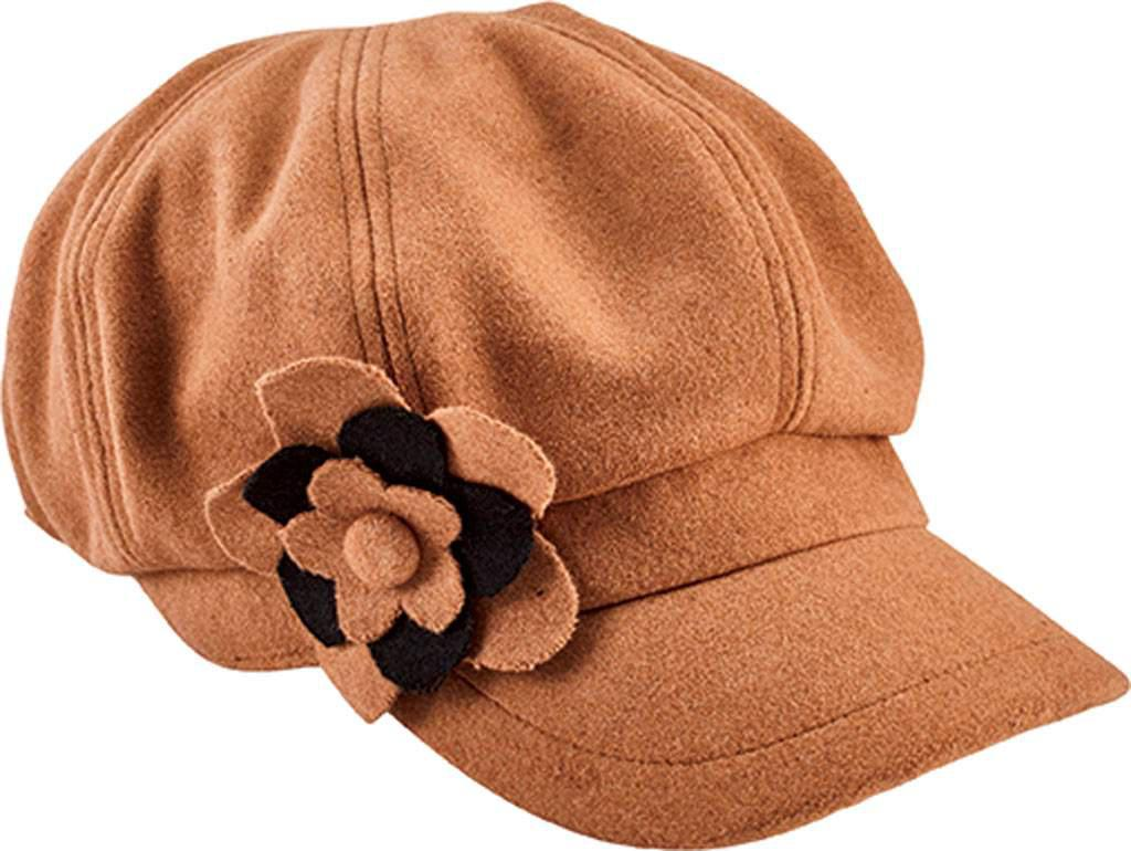 090d6df465a Lyst - San Diego Hat Company Newsboy Cap With Flower Trim Cth8064