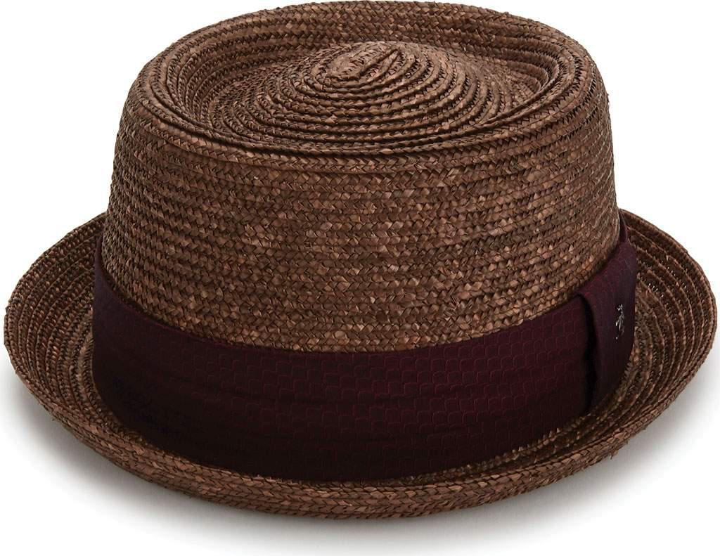 55556487d21db Lyst - Original Penguin Round Top Straw Porkpie Hat in Brown for Men