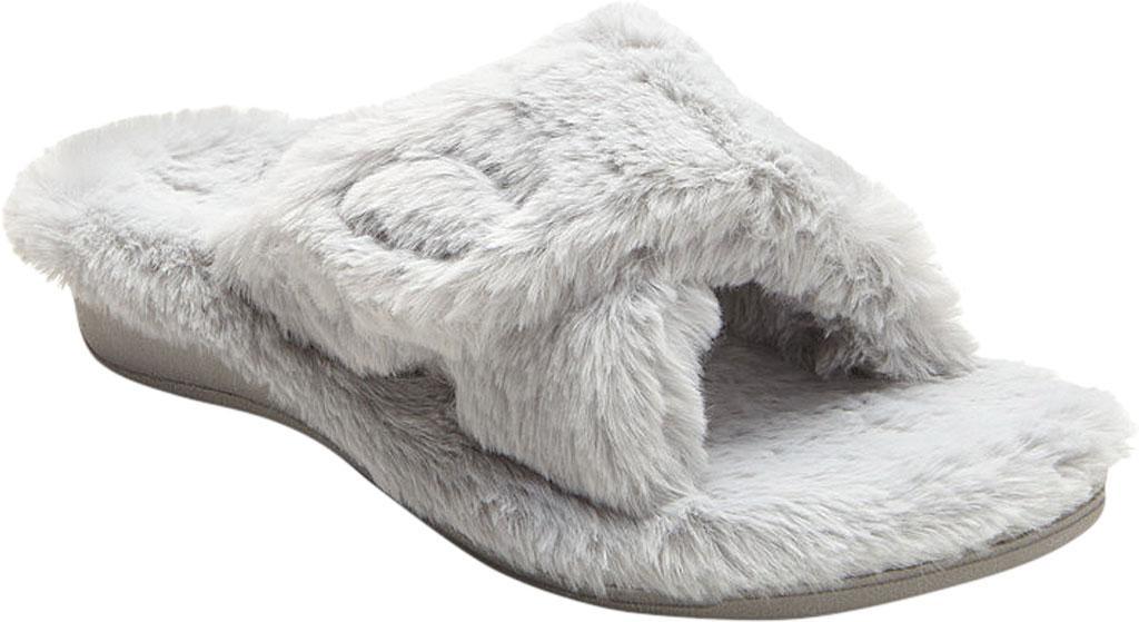 e898f84847c Lyst - Vionic Relax Plush Open Toe Slipper in Gray