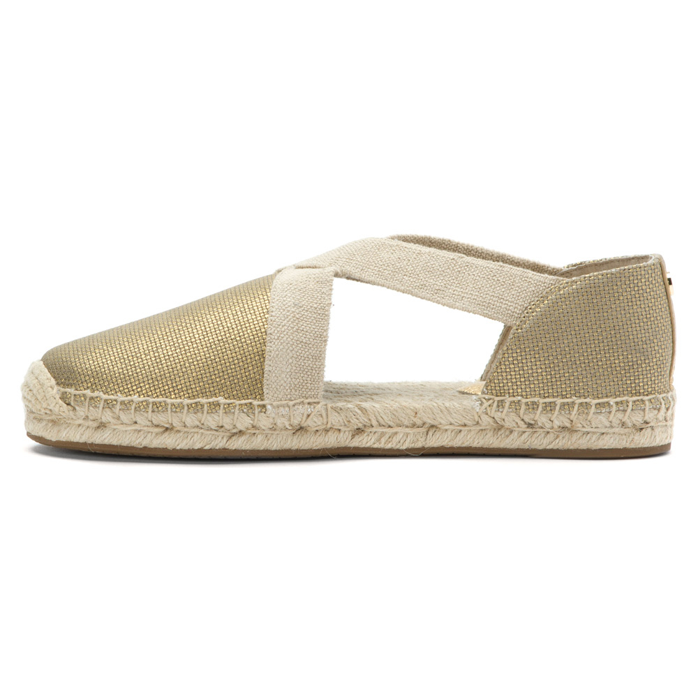 lyst michael michael kors dana espadrille in metallic. Black Bedroom Furniture Sets. Home Design Ideas