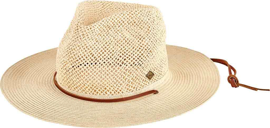 Lyst - San Diego Hat Company Open Weave Crown Fedora With Chin Cord ... 68bf49c9e97d