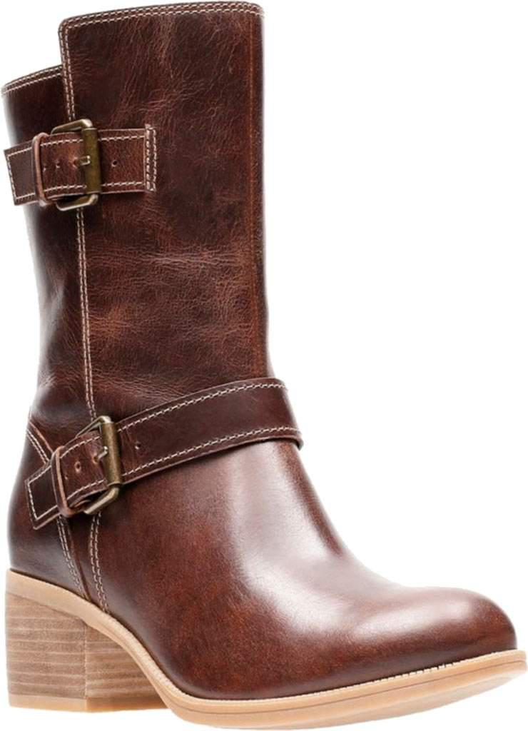 eaa3cfca5e93 Lyst - Clarks Maypearl Oasis Mid Calf Boot in Brown